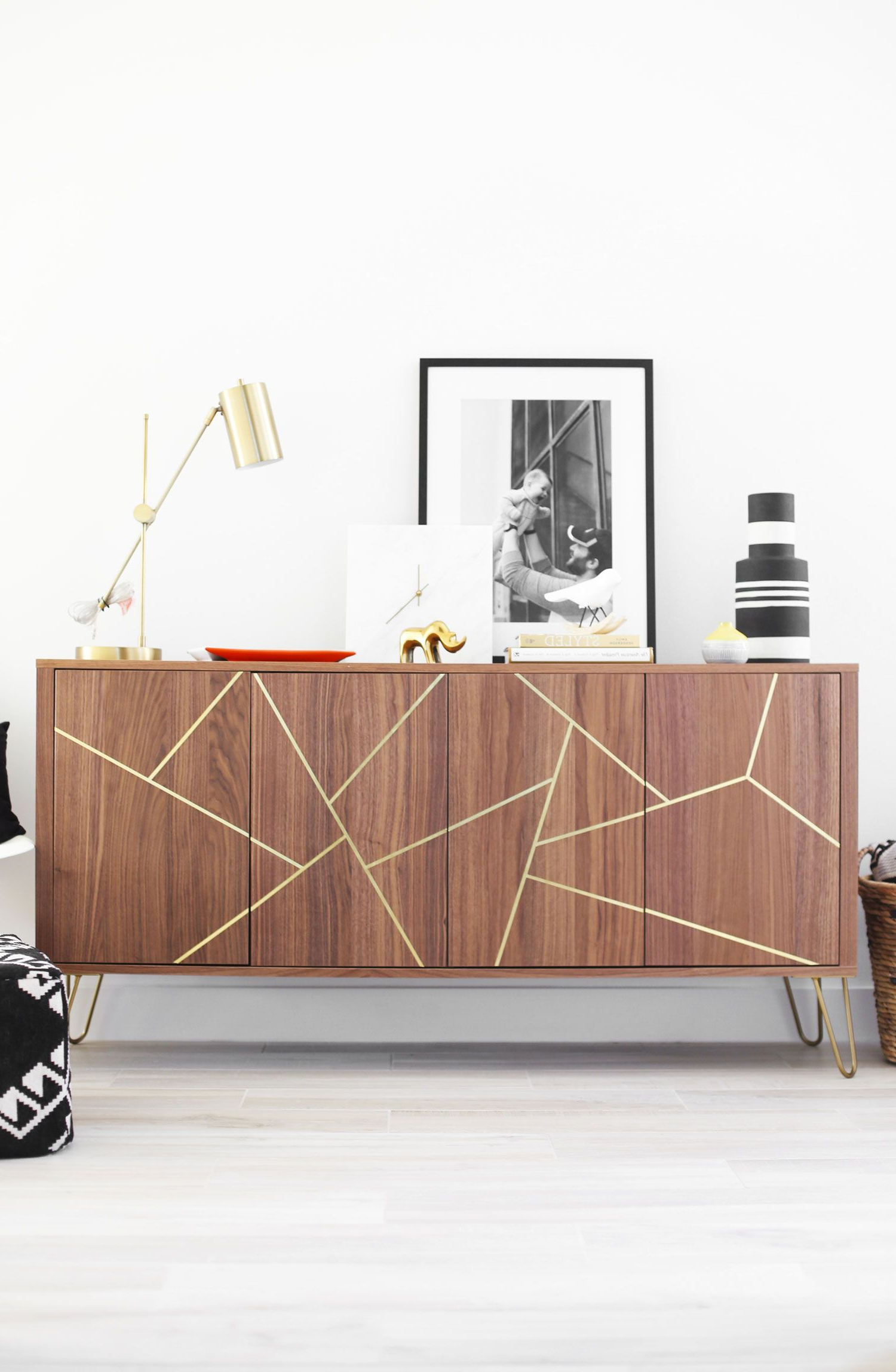 Aug 23 Mid Century Modern Ikea Hack Sideboard | Great Ideas For Exagonal Geometry Credenzas (View 14 of 20)