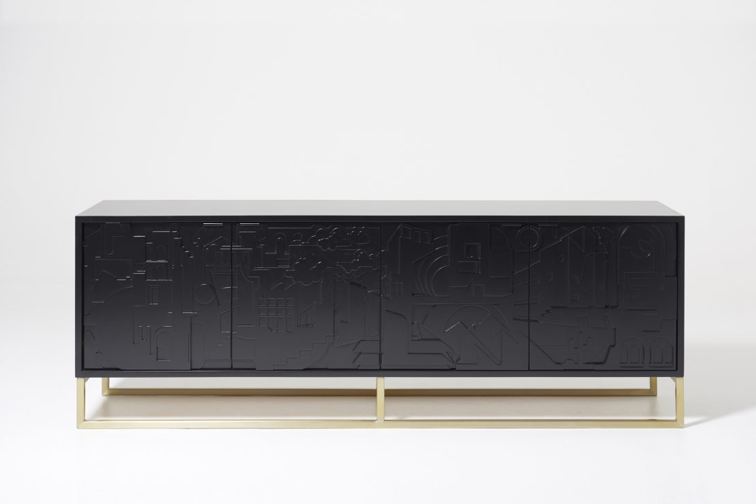 Bank Credenza – Castledex Intended For Geometric Shapes Credenzas (View 13 of 20)