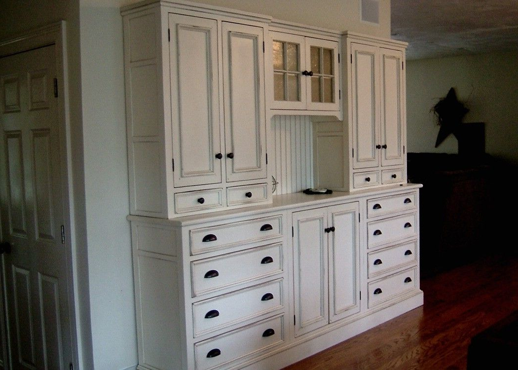 Beautiful Design Kitchen Hutch Furniture Handmade White Within Black Hutch Buffets With Stainless Top (View 3 of 20)