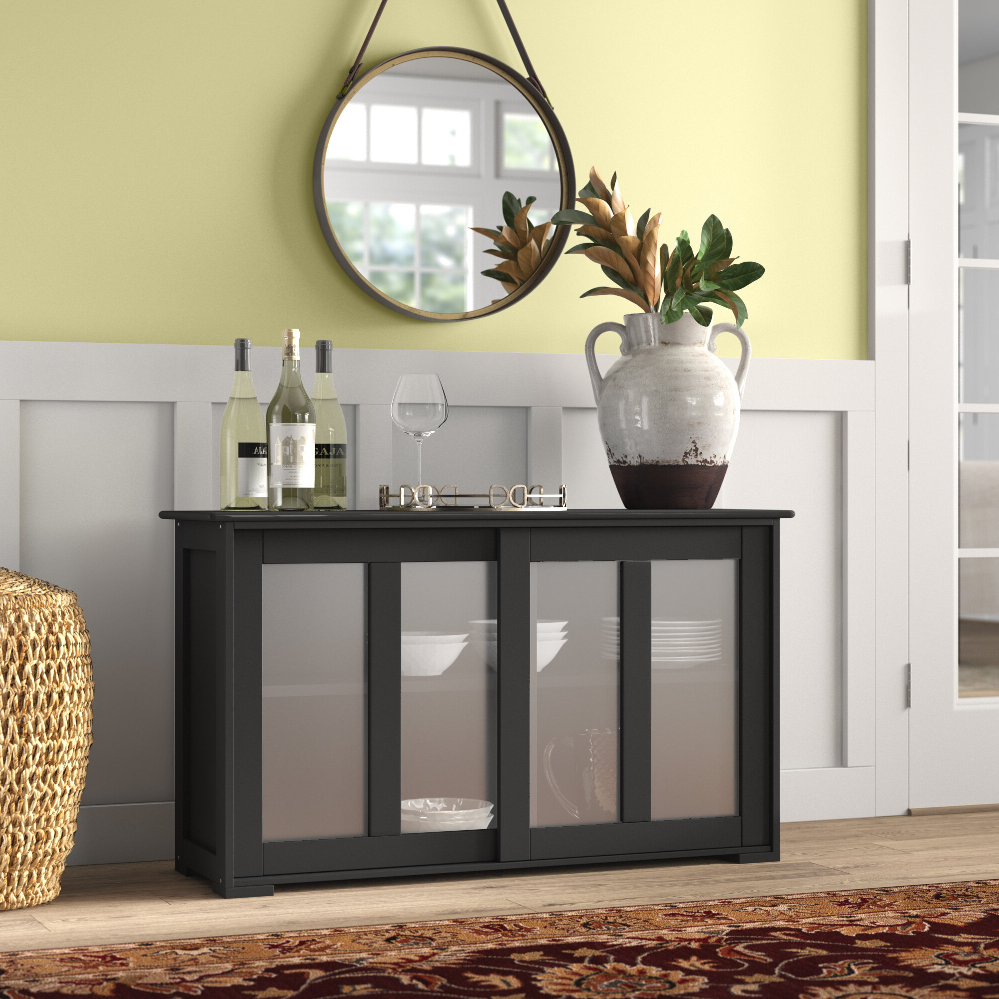 Belpre Sideboard Buffet Table With Regard To Simple Living Montego Black Wooden Buffets (View 9 of 20)
