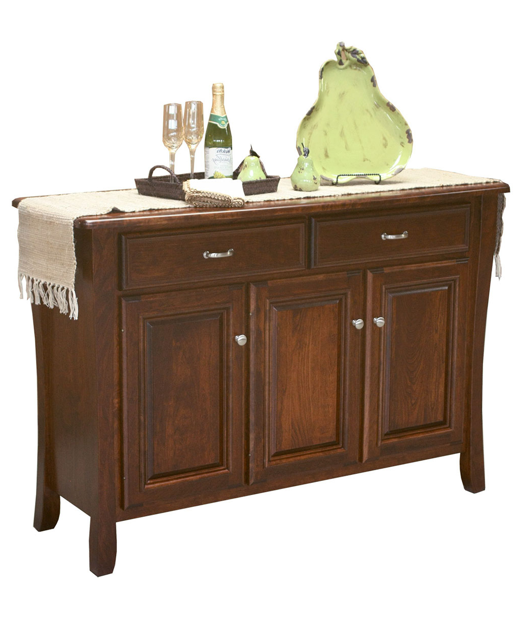Berkley Buffet Within 2 Shelf Buffets With Curved Legs (View 3 of 20)