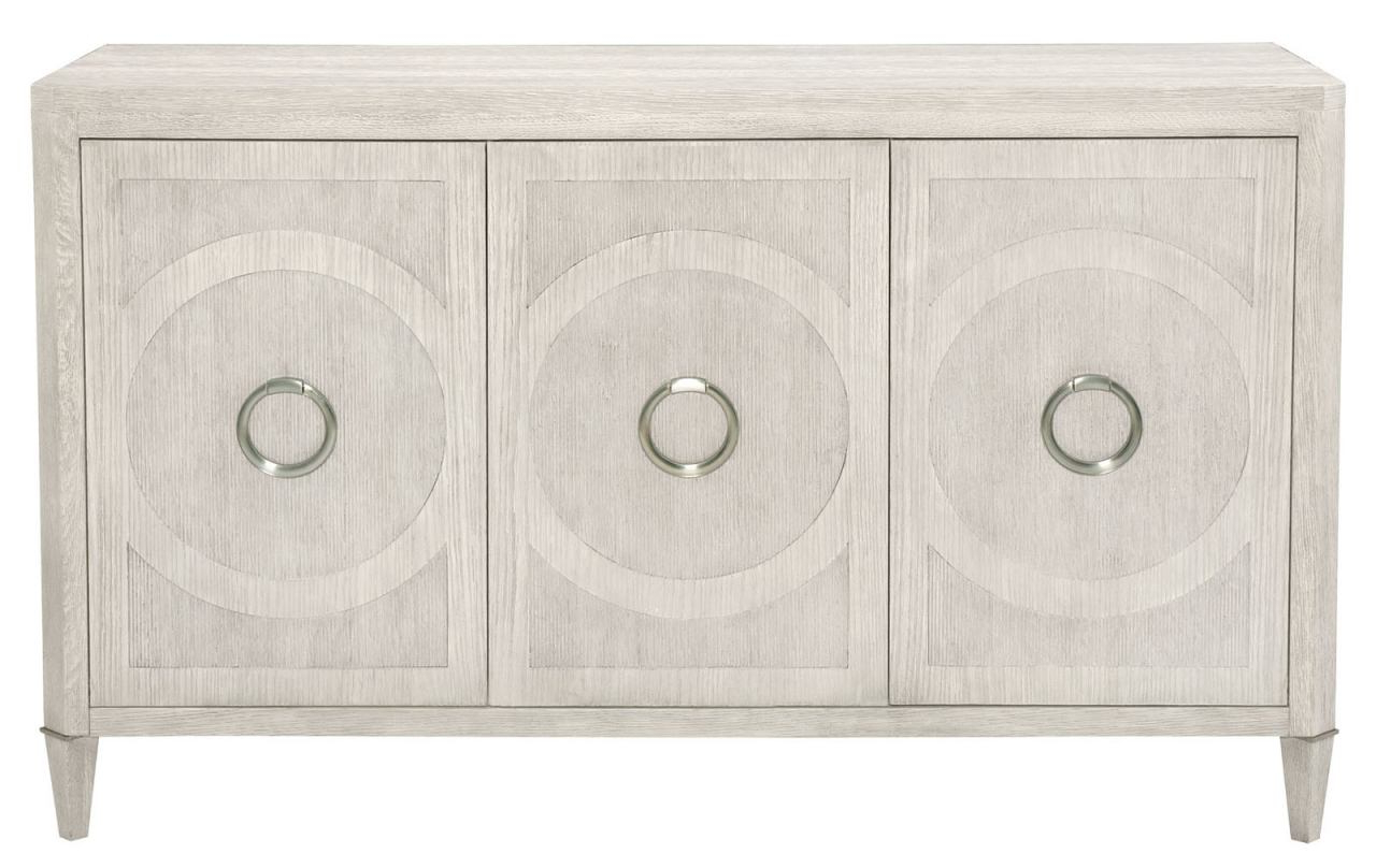 Bernhardt Domaine Blanc 3 Door Buffet In Dove White 374 132 Within 3 Drawer Titanium Buffets (View 12 of 20)