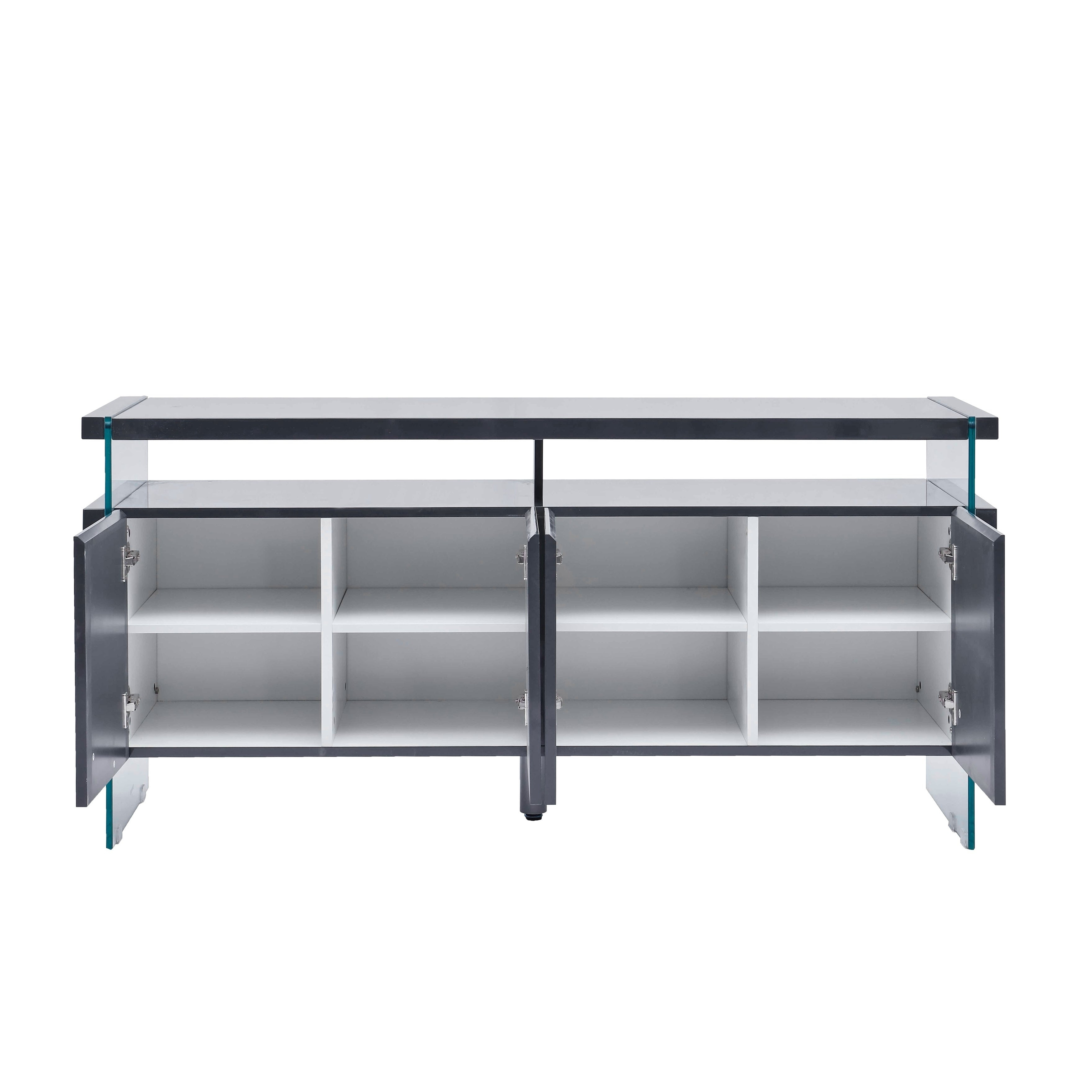 Best Quality Furniture 4 Door Lacquer Buffet Server For 4 Door Lacquer Buffets (View 4 of 20)