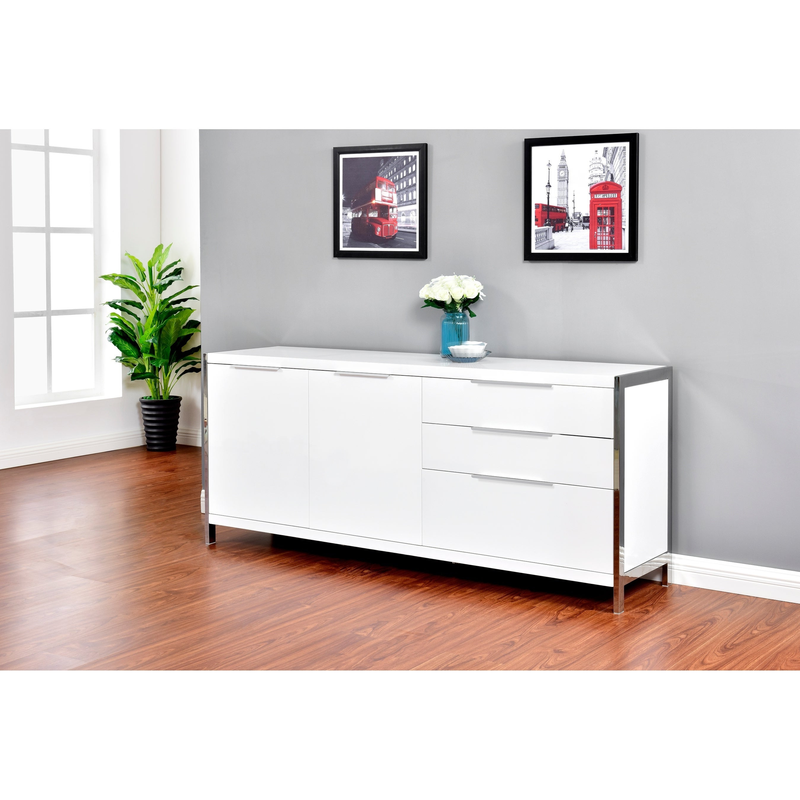 Featured Photo of Modern Lacquer 2 Door 3 Drawer Buffets