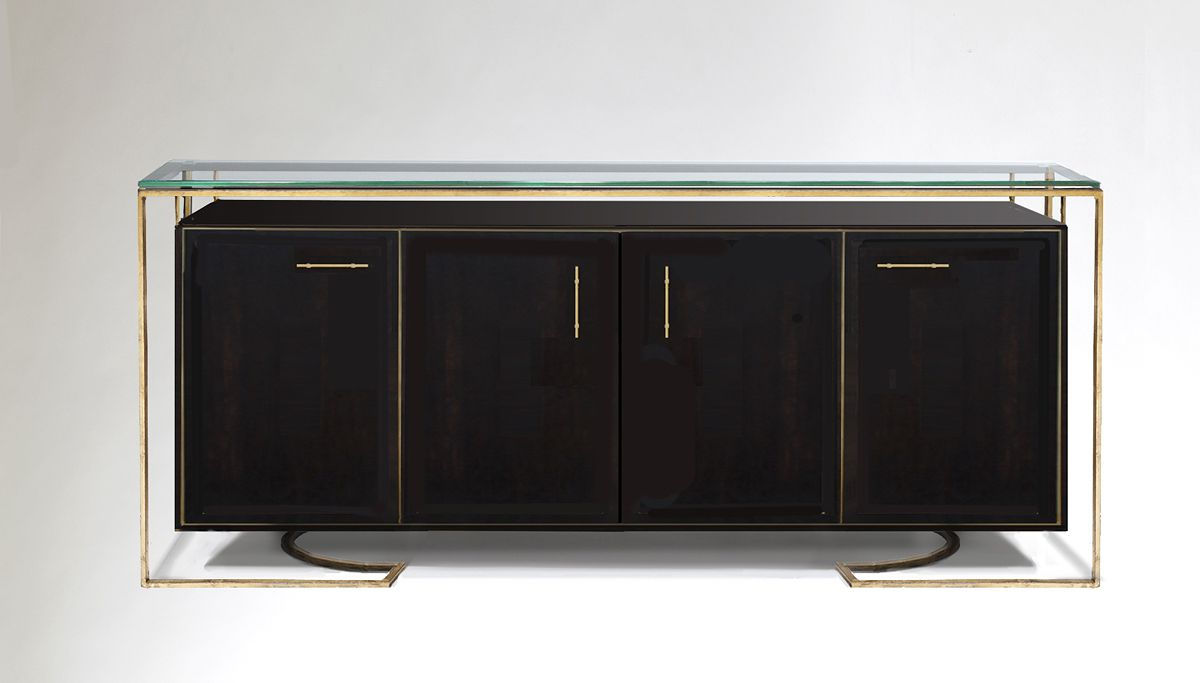 Black & Gold Hanging Credenzacodor Design | 单品 柜 For Festival Eclipse Credenzas (View 7 of 20)