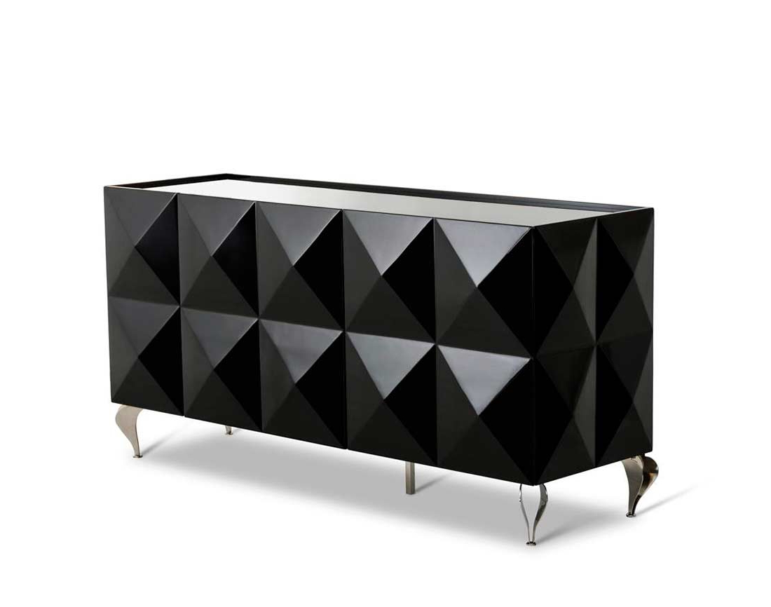 Black Lacquer High Gloss Buffet Vg504 | Modern Buffets Within Modern Lacquer 2 Door 3 Drawer Buffets (View 9 of 20)