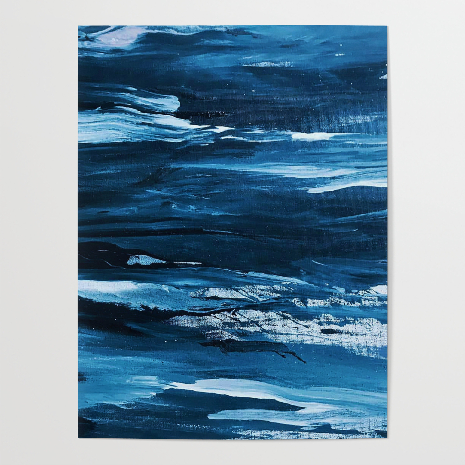 Blue Brush Strokes (Color) Posternocolordesigns Inside Strokes And Waves Credenzas (View 11 of 20)