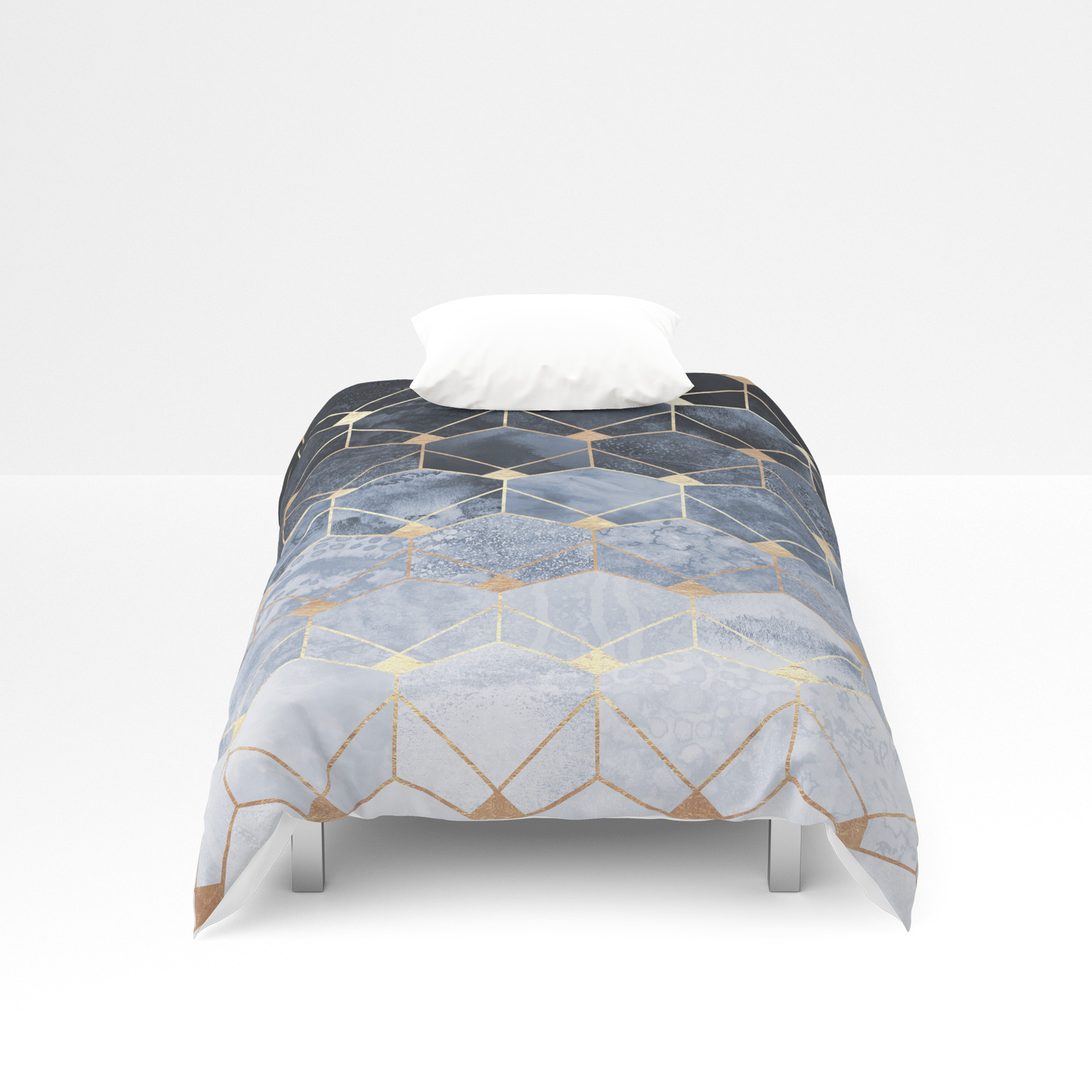 Blue Hexagons And Diamonds Duvet Cover For Blue Hexagons And Diamonds Credenzas (View 3 of 20)