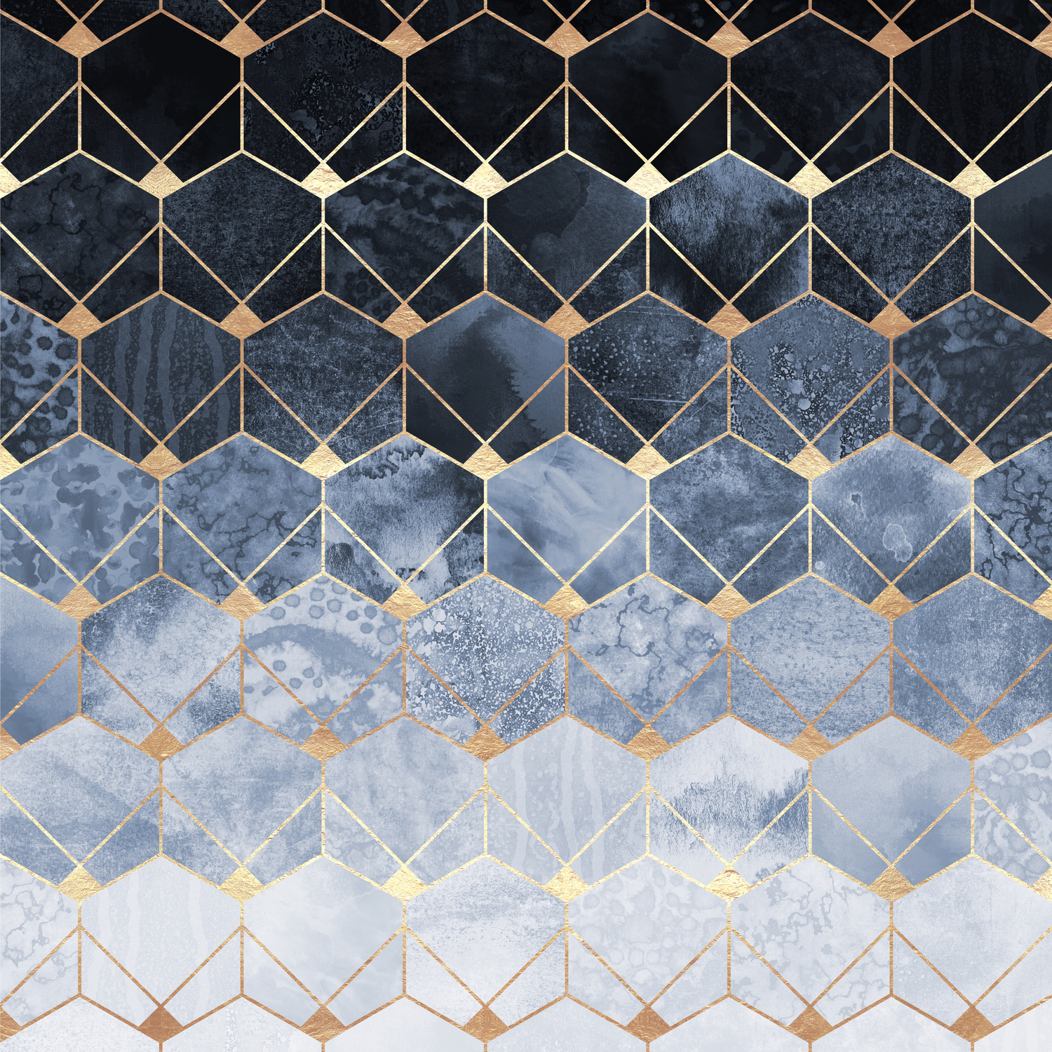 Blue Hexagons And Diamonds Duvet Cover With Blue Hexagons And Diamonds Credenzas (View 4 of 20)