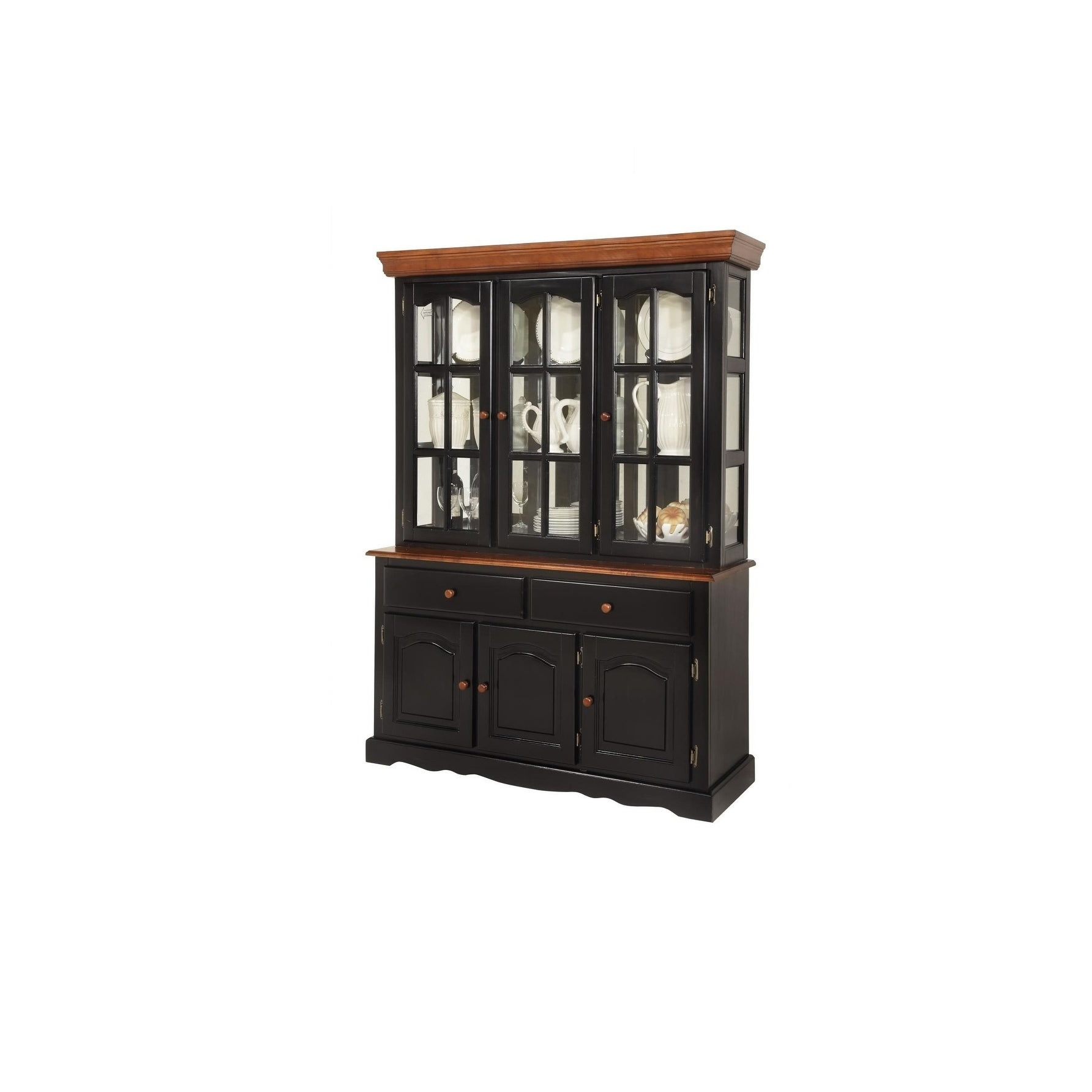 Boston Cherry 2 Drawer Buffet Within Rustic Black 2 Drawer Buffets (View 17 of 20)