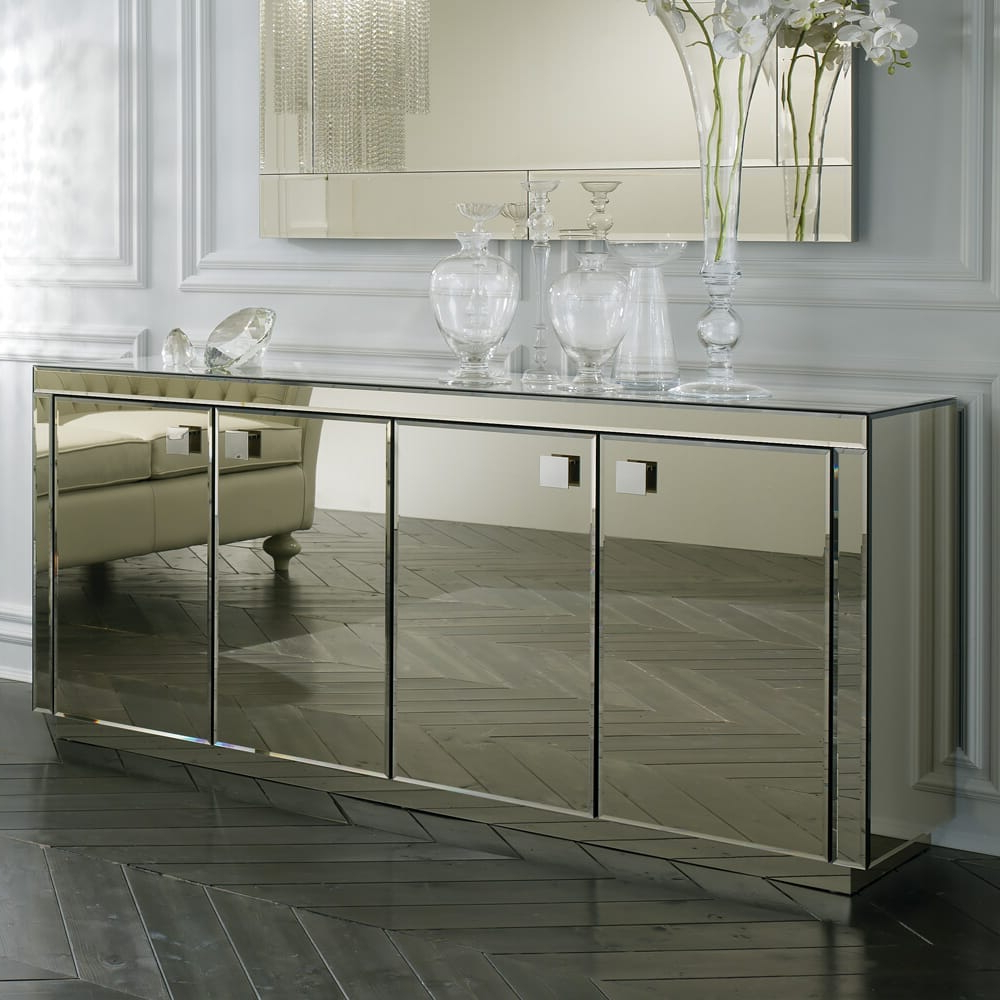 Bronze Mirrored Buffet And Mirror With Mirrored Buffets (View 3 of 20)