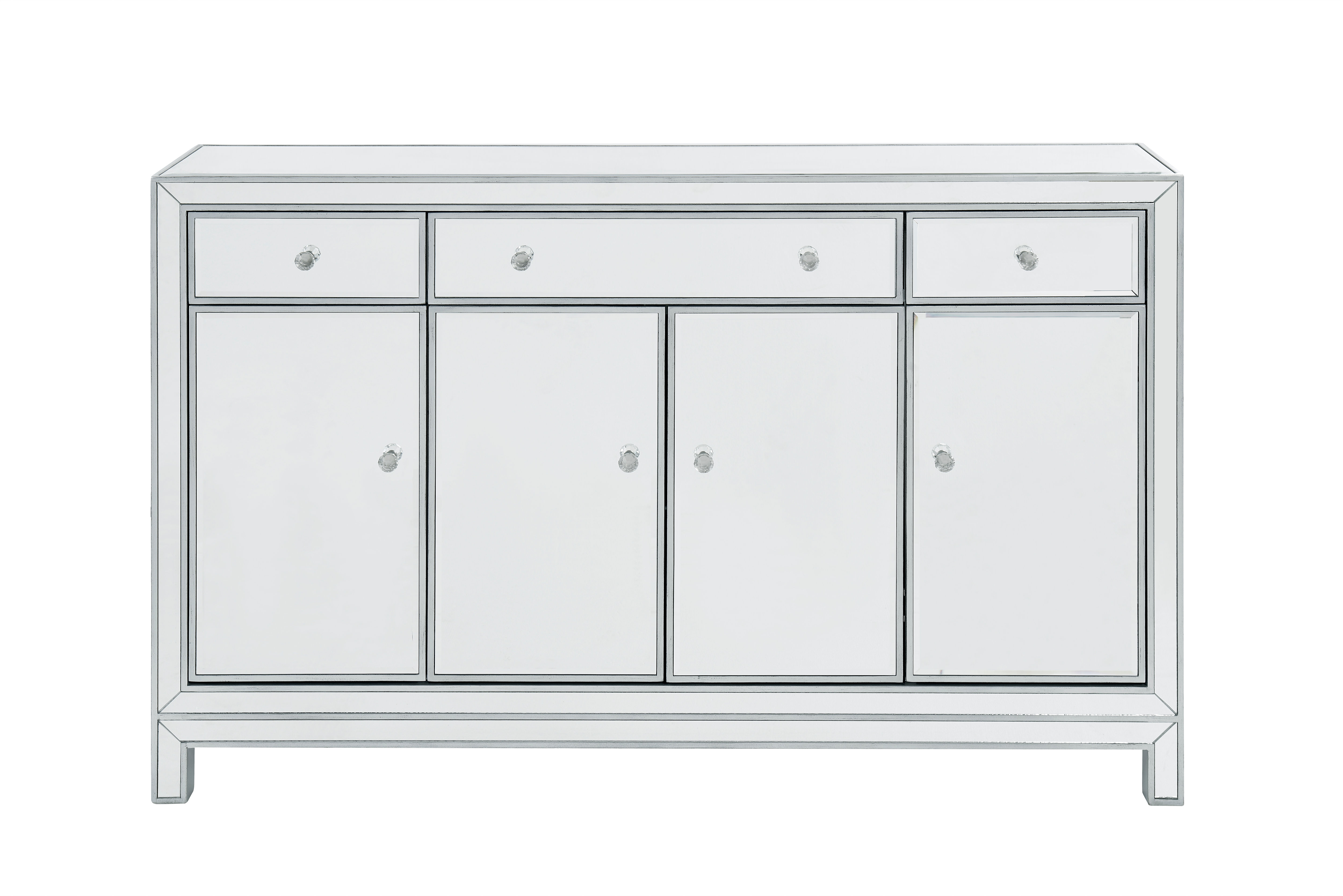 """Buffet Cabinet 3 Drawers 4 Doors 56""""w X 13""""d X 36""""h   Alibabalighting With Regard To 3 Drawer Black Storage Buffets (View 17 of 20)"""