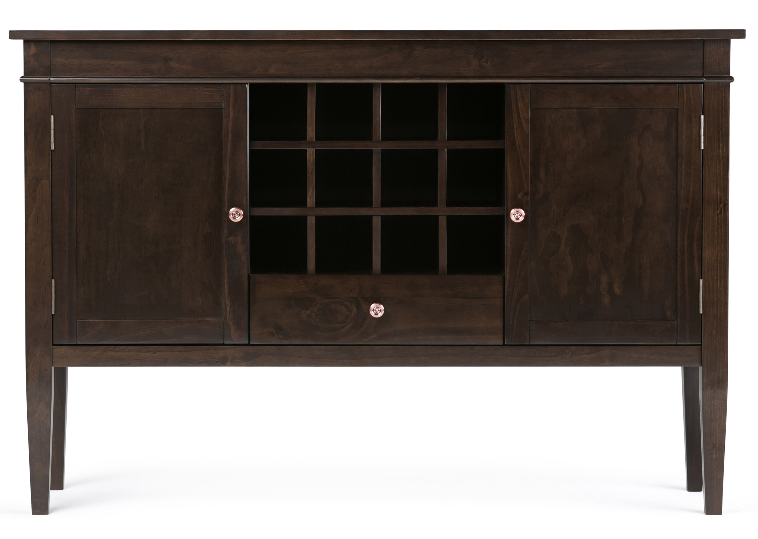 Buffet Table Wine Bottle Storage Equipped Sideboards Within Cappuccino Finished Buffets (View 4 of 20)