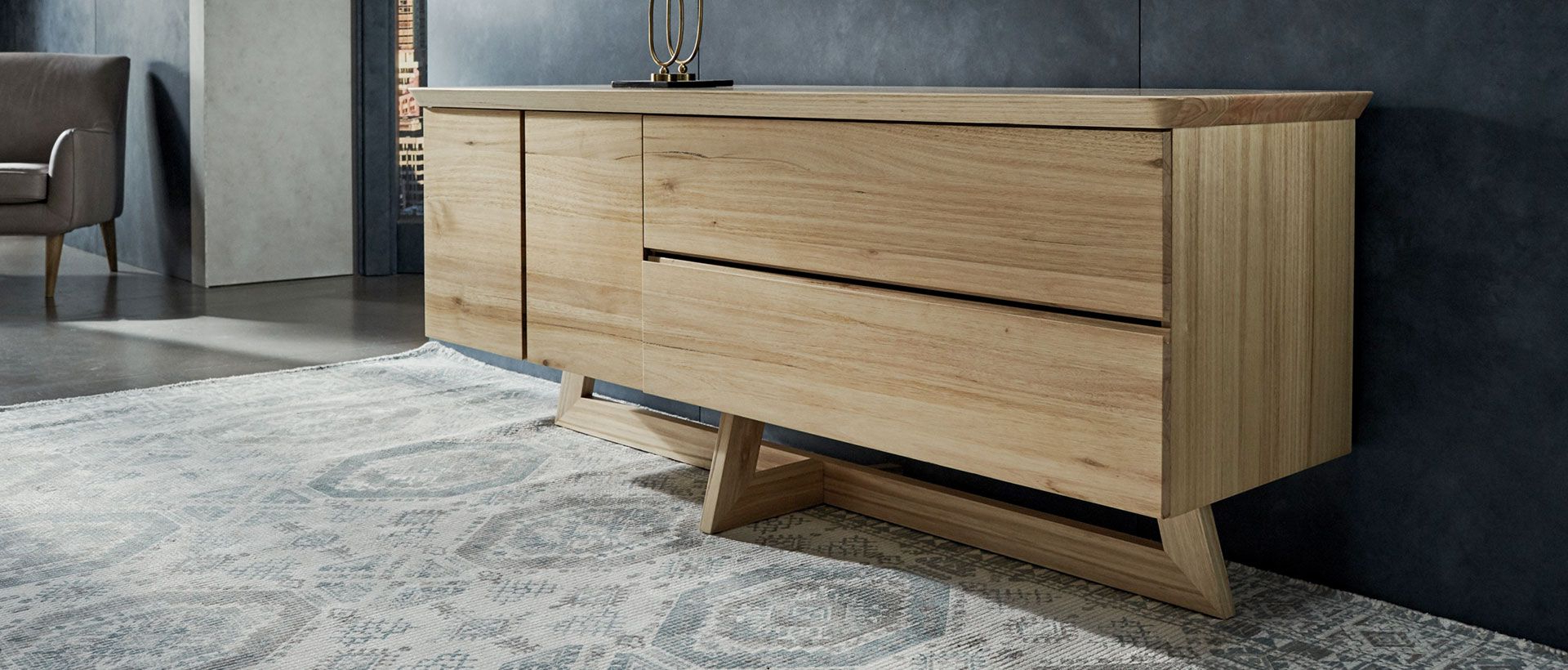 Buffets, Cabinets & Sideboards | Nick Scali In Contemporary Wooden Buffets With One Side Door Storage Cabinets And Two Drawers (View 1 of 20)