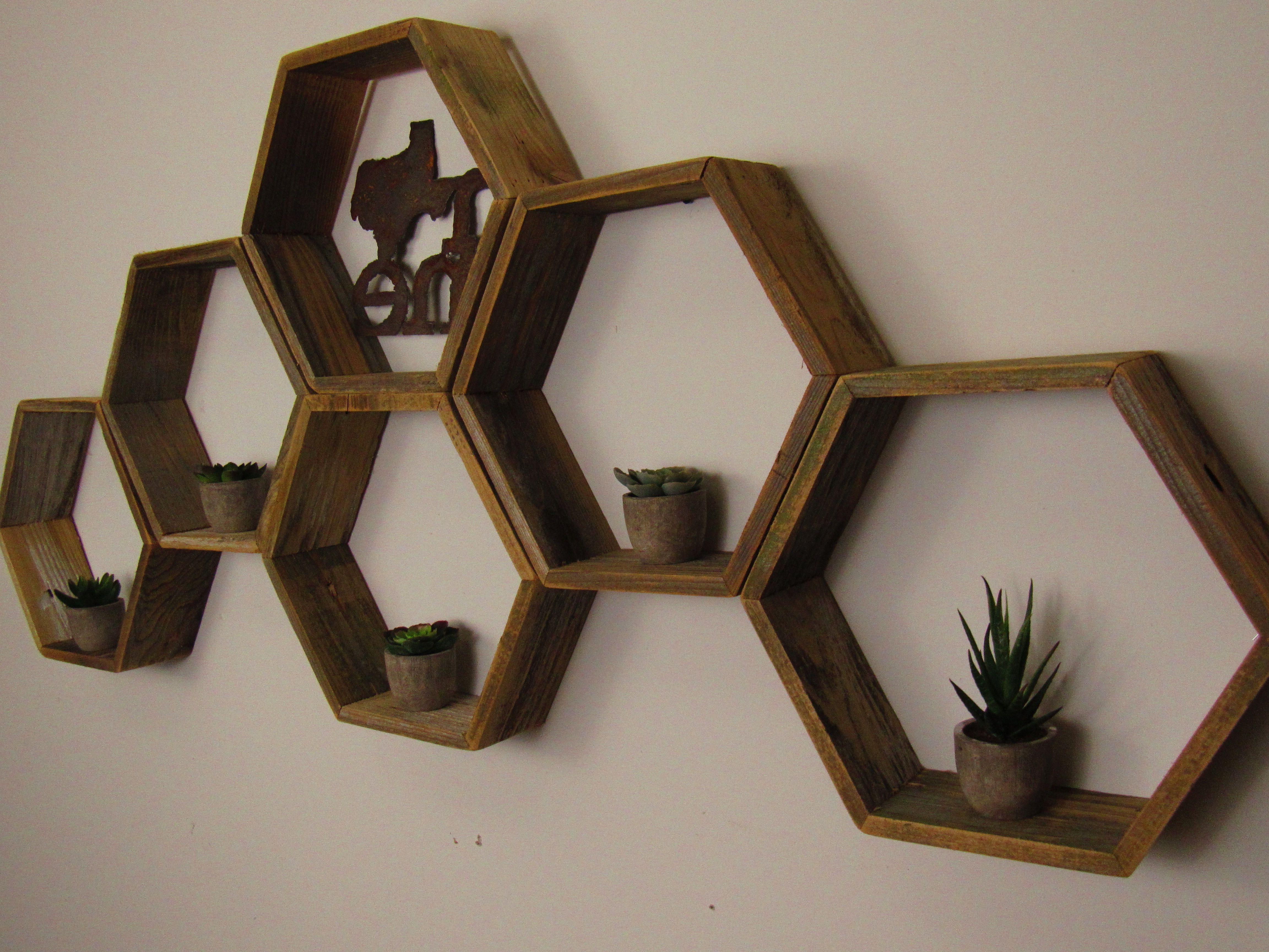 Buy A Custom Made Reclaimed Honeycomb Hexagon Geometric With Exagonal Geometry Credenzas (View 7 of 20)