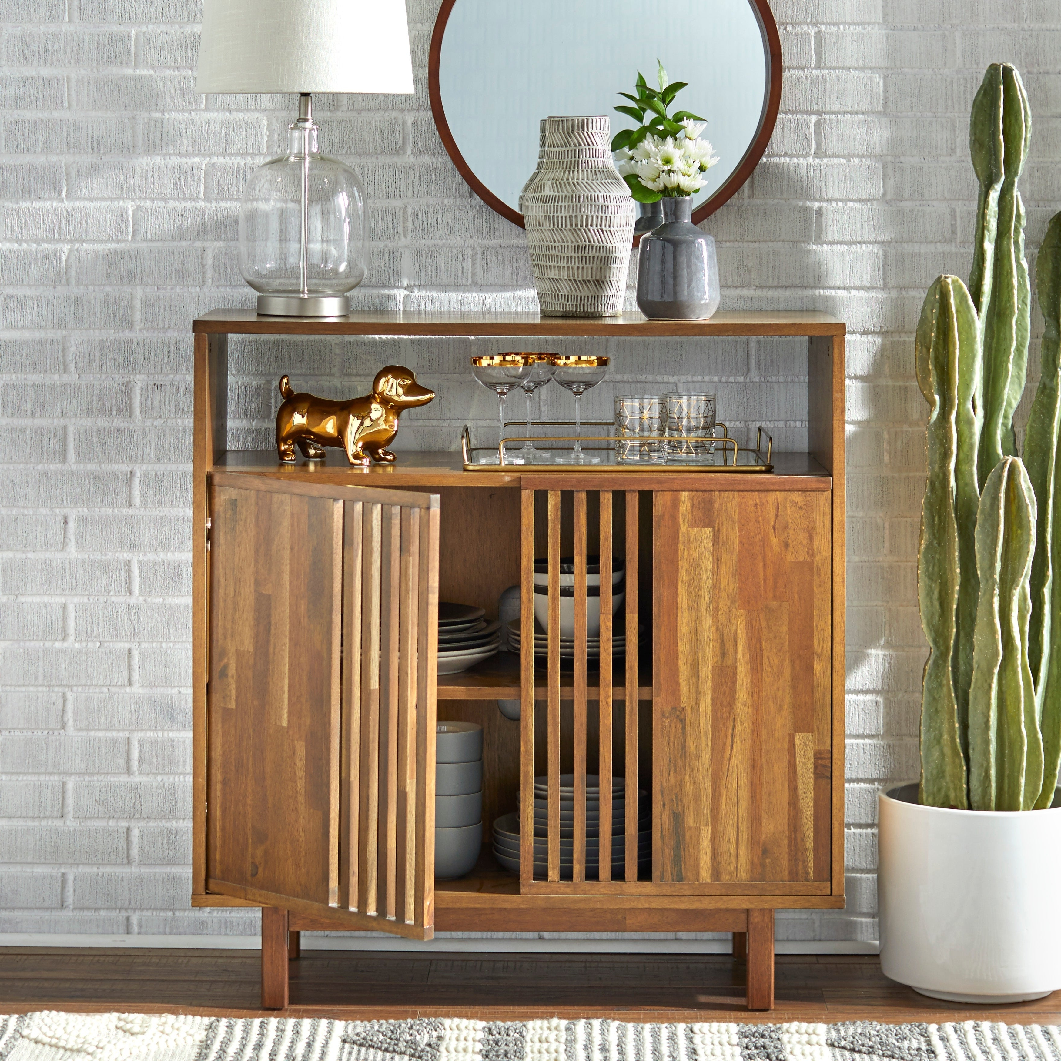Buy Acacia Buffets, Sideboards & China Cabinets Online At In Rustic Walnut Buffets (View 11 of 20)