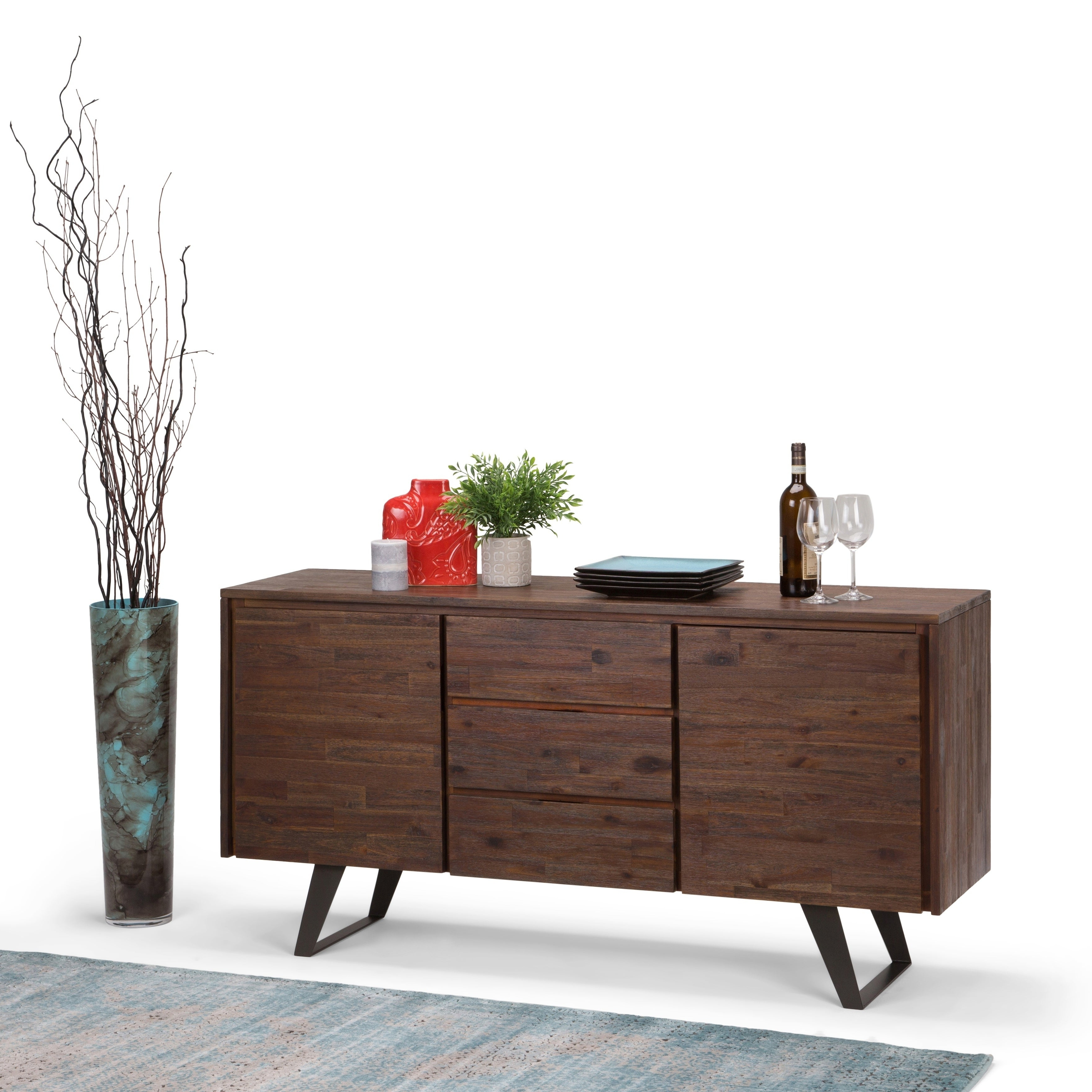 Buy Acacia Buffets, Sideboards & China Cabinets Online At Throughout Rustic Walnut Buffets (View 5 of 20)