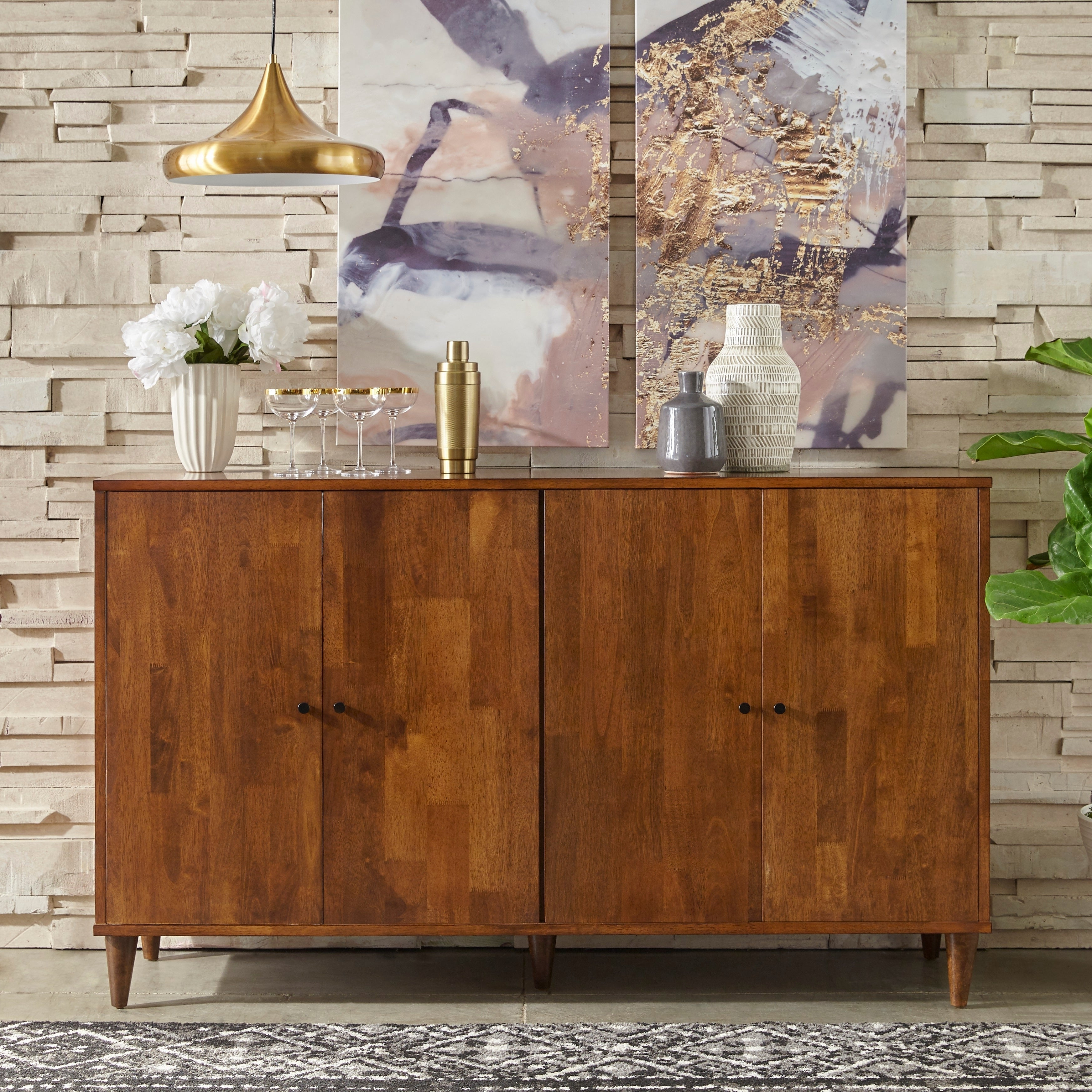 Buy Brown Buffets, Sideboards & China Cabinets Online At For Strick & Bolton Dallas Walnut Buffets (View 5 of 20)