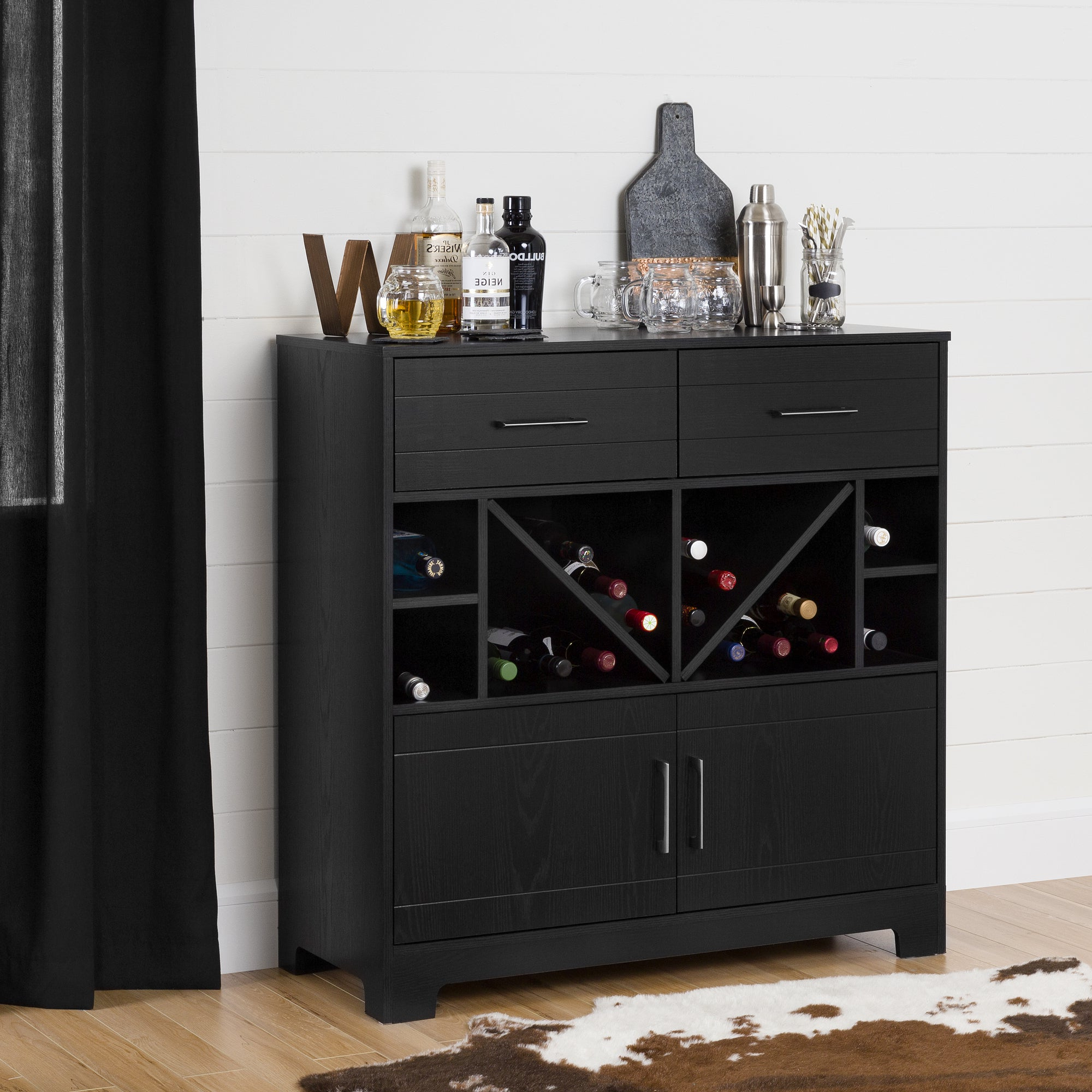 Buy Wine Bottle Storage South Shore Furniture Buffets With Buffets With Bottle And Glass Storage (View 3 of 20)
