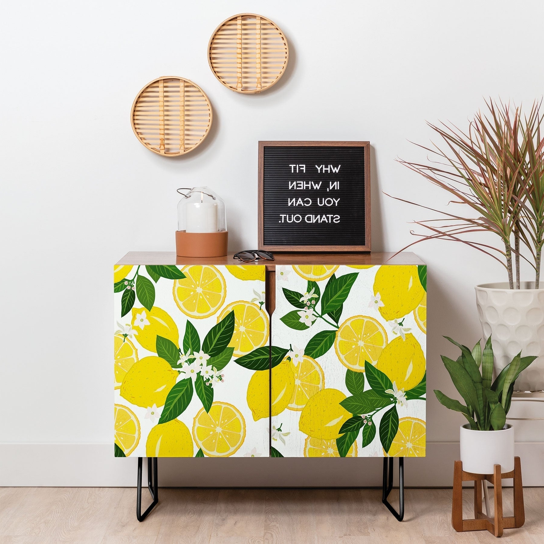 Featured Photo of Floral Blush Yellow Credenzas