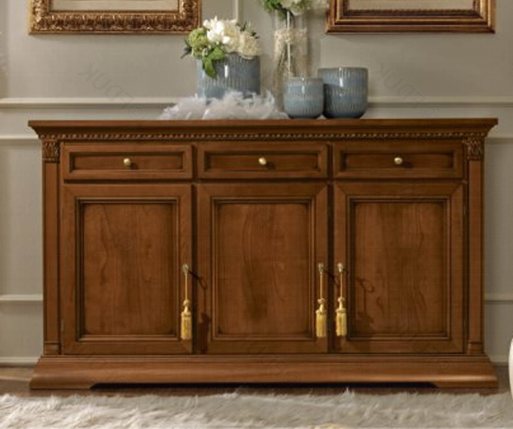 Camel Group Treviso Cherry Finish 3 Door Buffet Pertaining To Buffets With Cherry Finish (View 8 of 20)