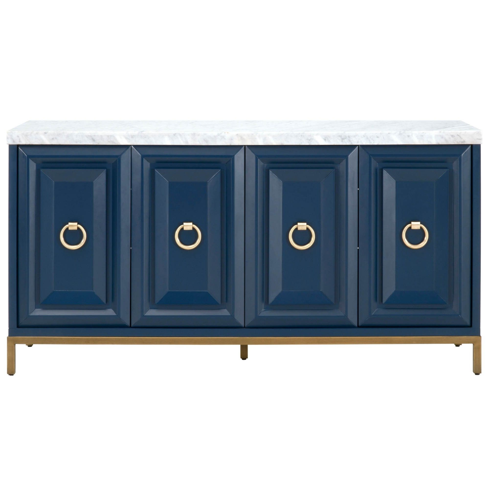 Candelabra Home Azure Carrera Sideboard – Navy | Greenway With Regard To Carrera Contemporary Black Dining Buffets (View 2 of 20)
