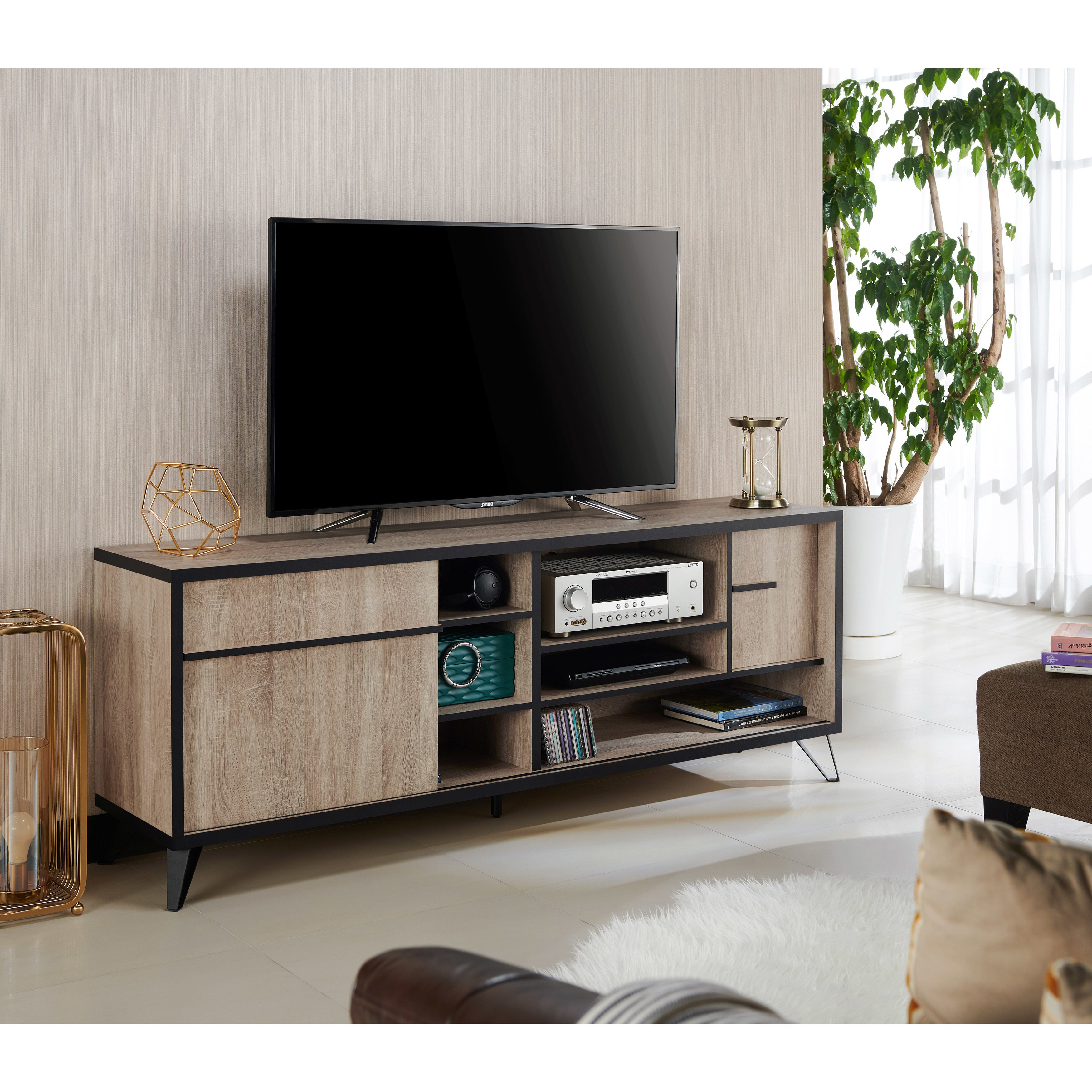 Carbon Loft Feleni Contemporary 70 Inch Tv Stand With Carbon Loft Feleni Contemporary Buffets (View 6 of 20)