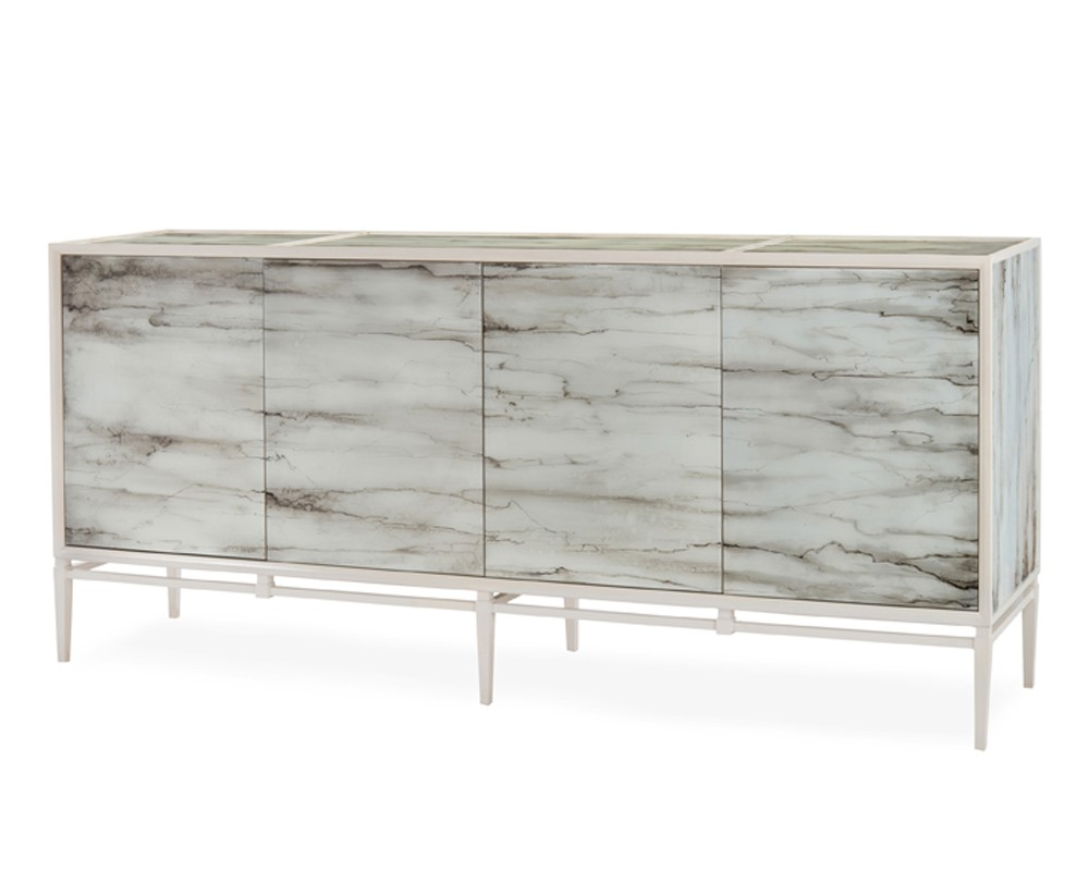 Carrara Cabinet Pertaining To Botanical Harmony Credenzas (View 2 of 20)