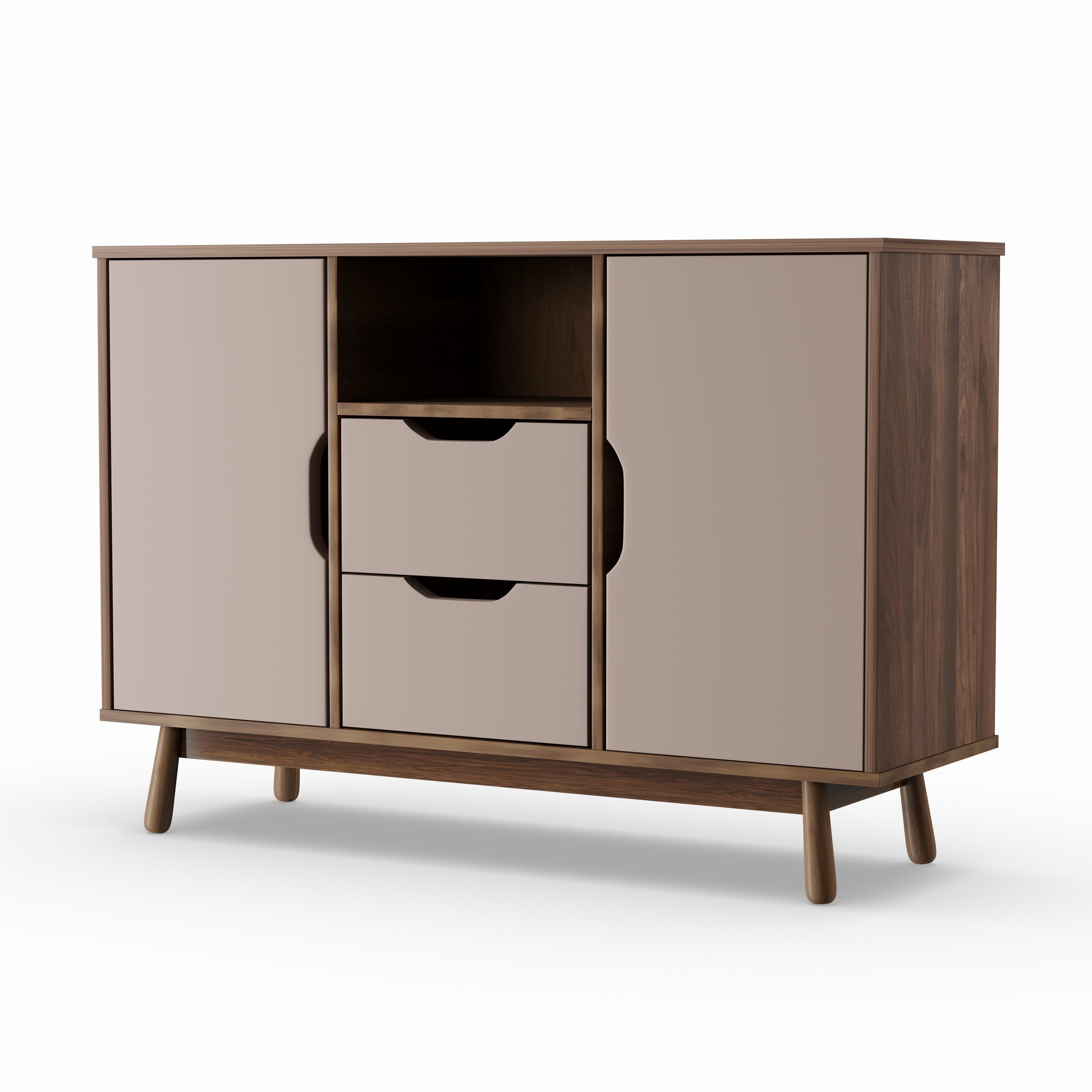 Featured Photo of Mid Century Brown And Grey Sideboards