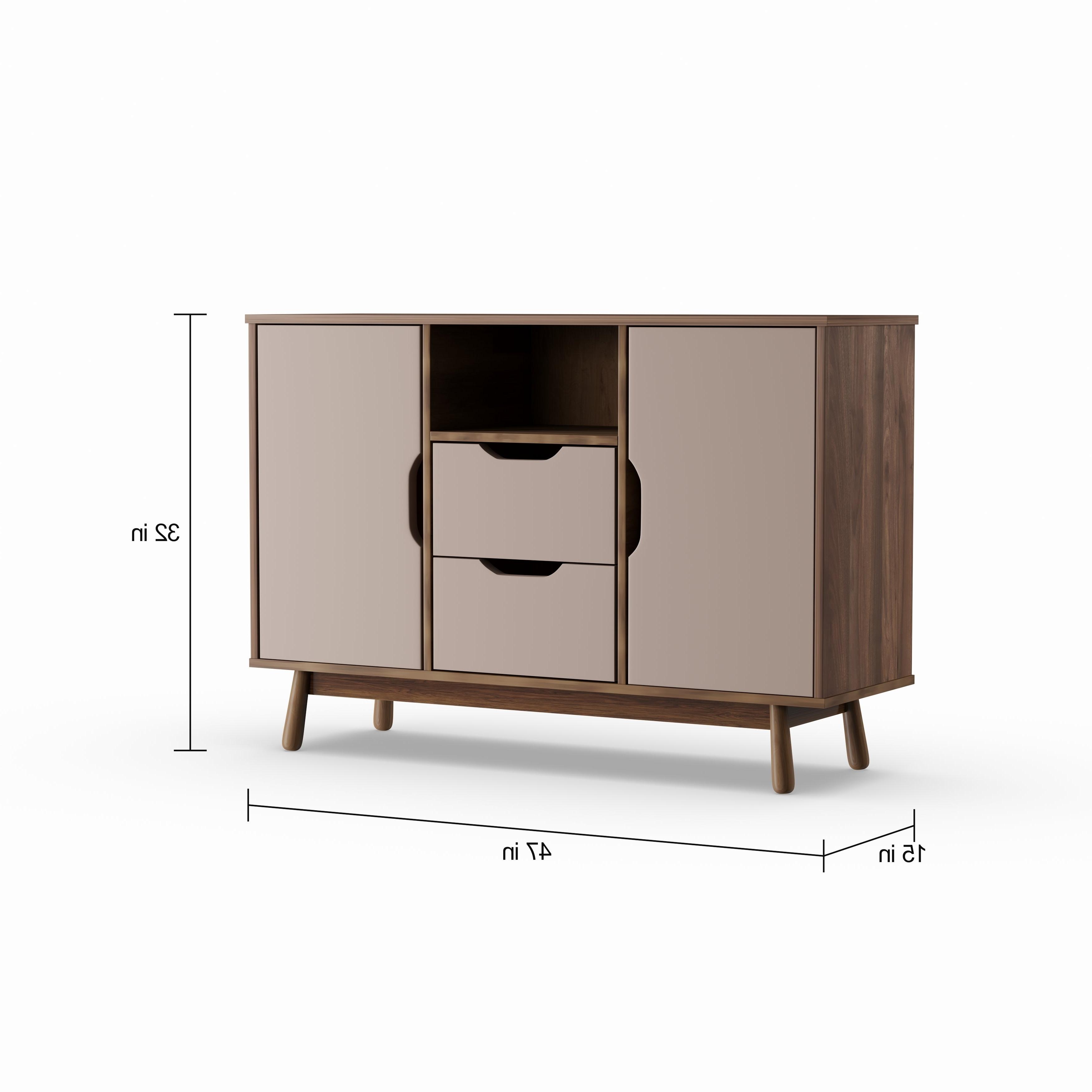 Carson Carrington Nerdvika Mid Century Brown And Grey Sideboard With Regard To Mid Century Brown And Grey Sideboards (View 3 of 20)