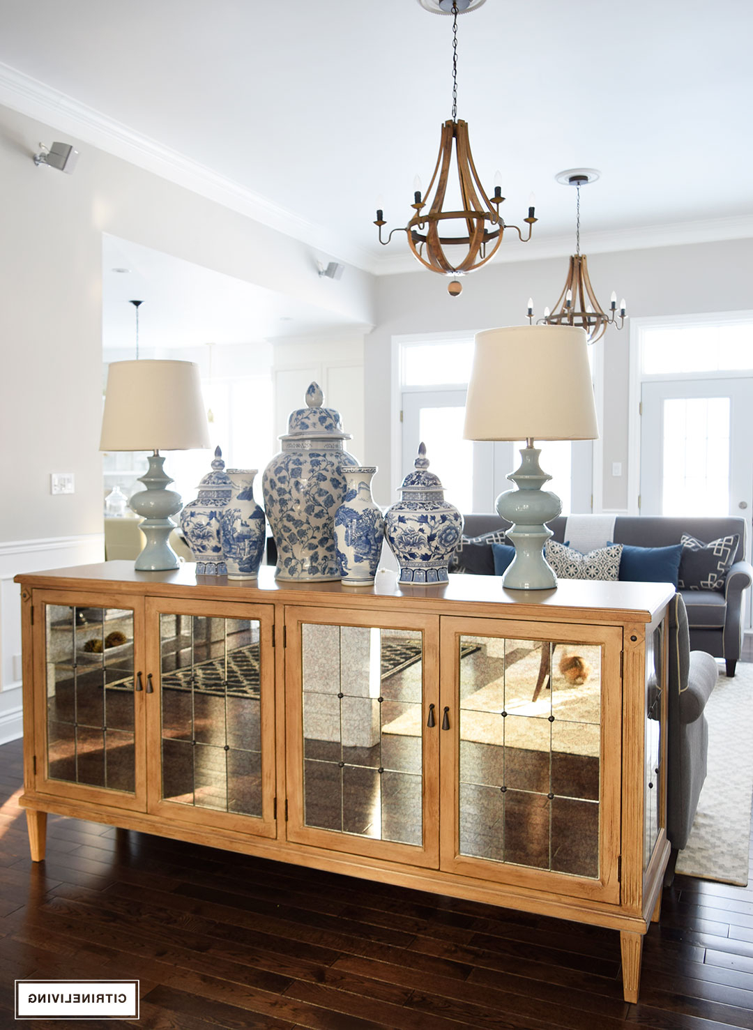 Citrineliving – Our New Antique Mirrored Buffet With 3 Piece Mirrored Buffets (View 4 of 20)