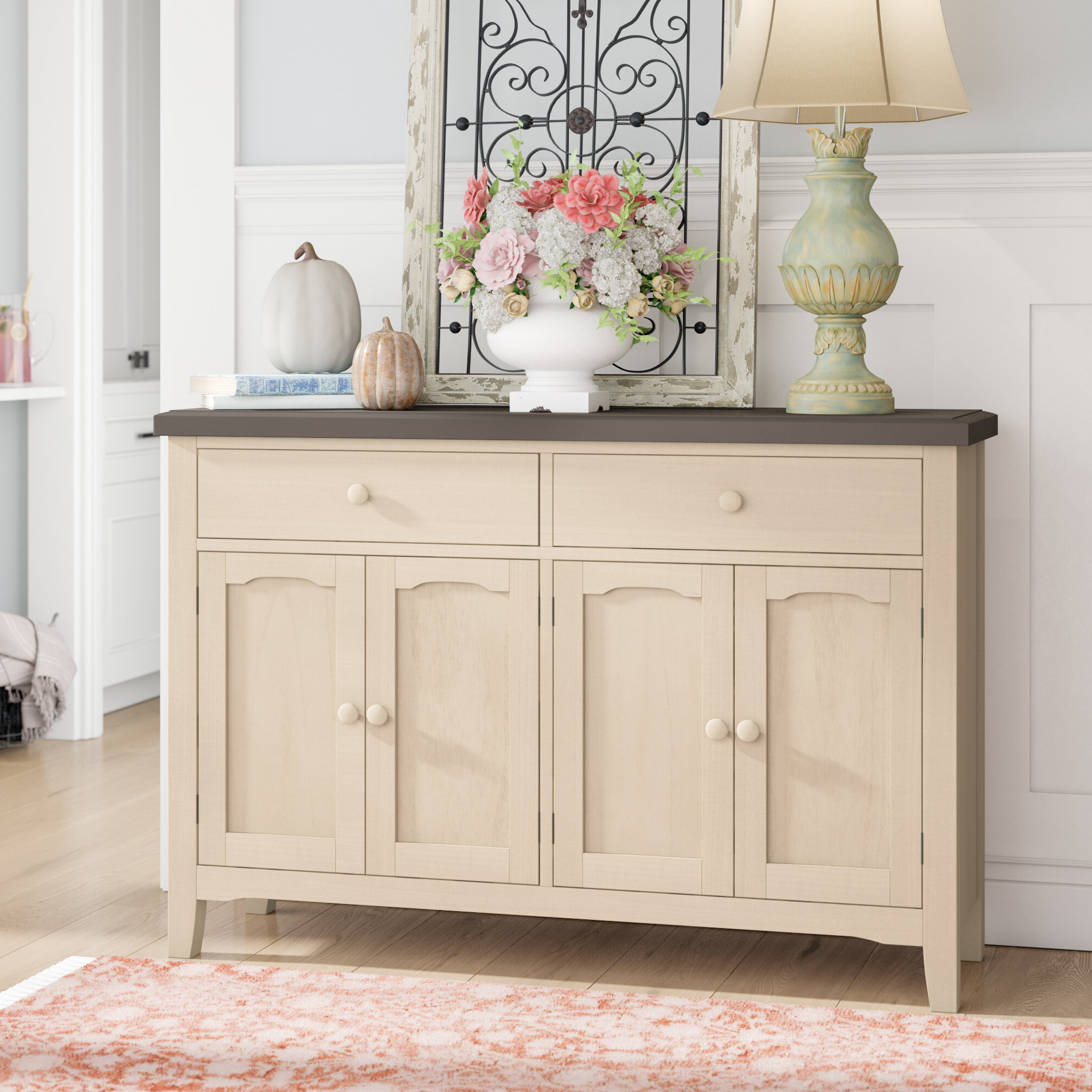 Coastal Sideboards & Buffets You'll Love In 2019 | Wayfair With Regard To White Beadboard Buffets (View 4 of 20)