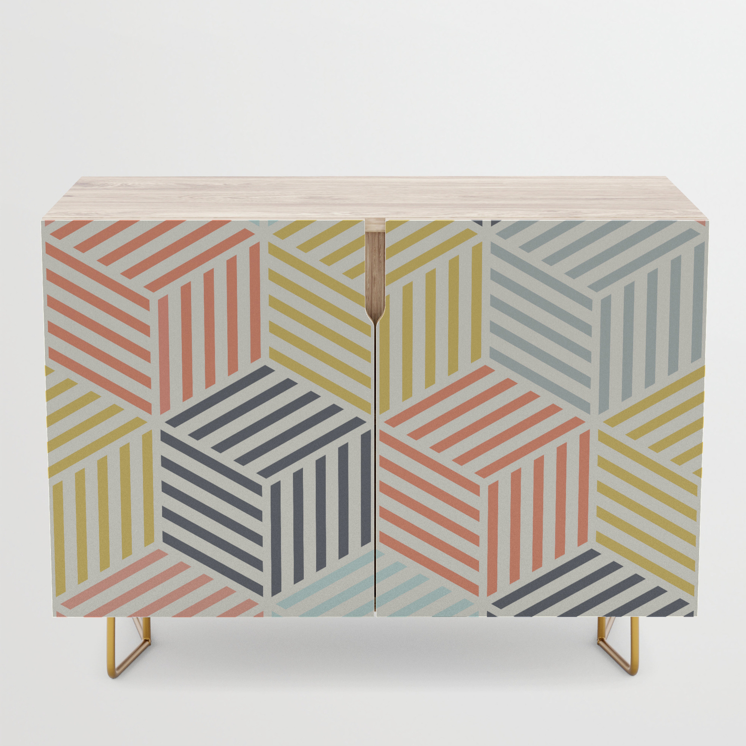 Colorful Geometric Pattern Credenza With Exagonal Geometry Credenzas (View 5 of 20)
