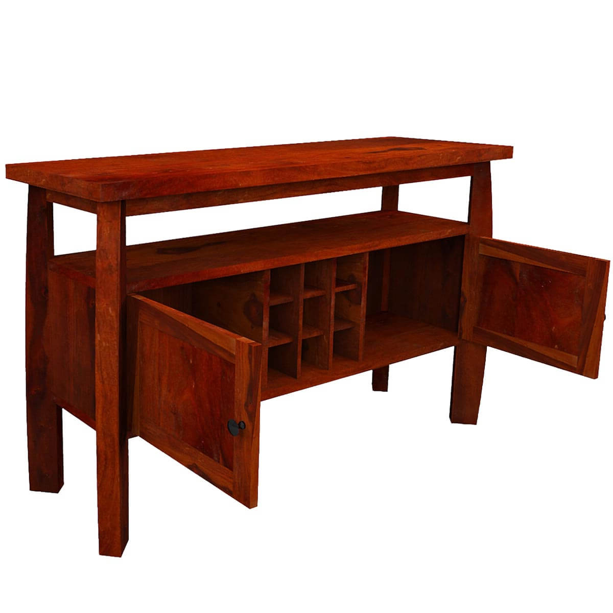 Contemporary Solid Wood Standing Wine Bar Rustic Buffet Table With Regard To Contemporary Wine Bar Buffets (View 12 of 20)