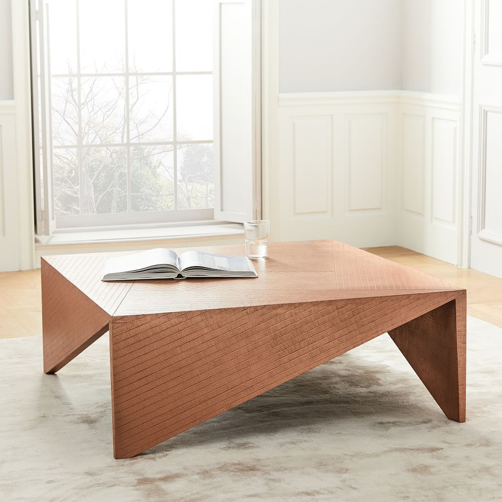 Copper Clad Coffee Table   Living Room   Table, Copper With Mandala Tile Marine Credenzas (View 4 of 20)