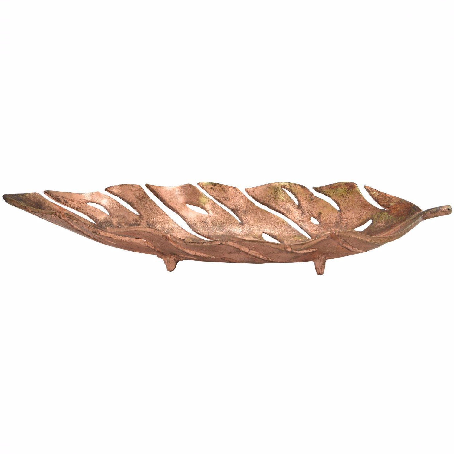 Copper Leaf Bowl Throughout Copper Leaf Wood Credenzas (View 6 of 20)