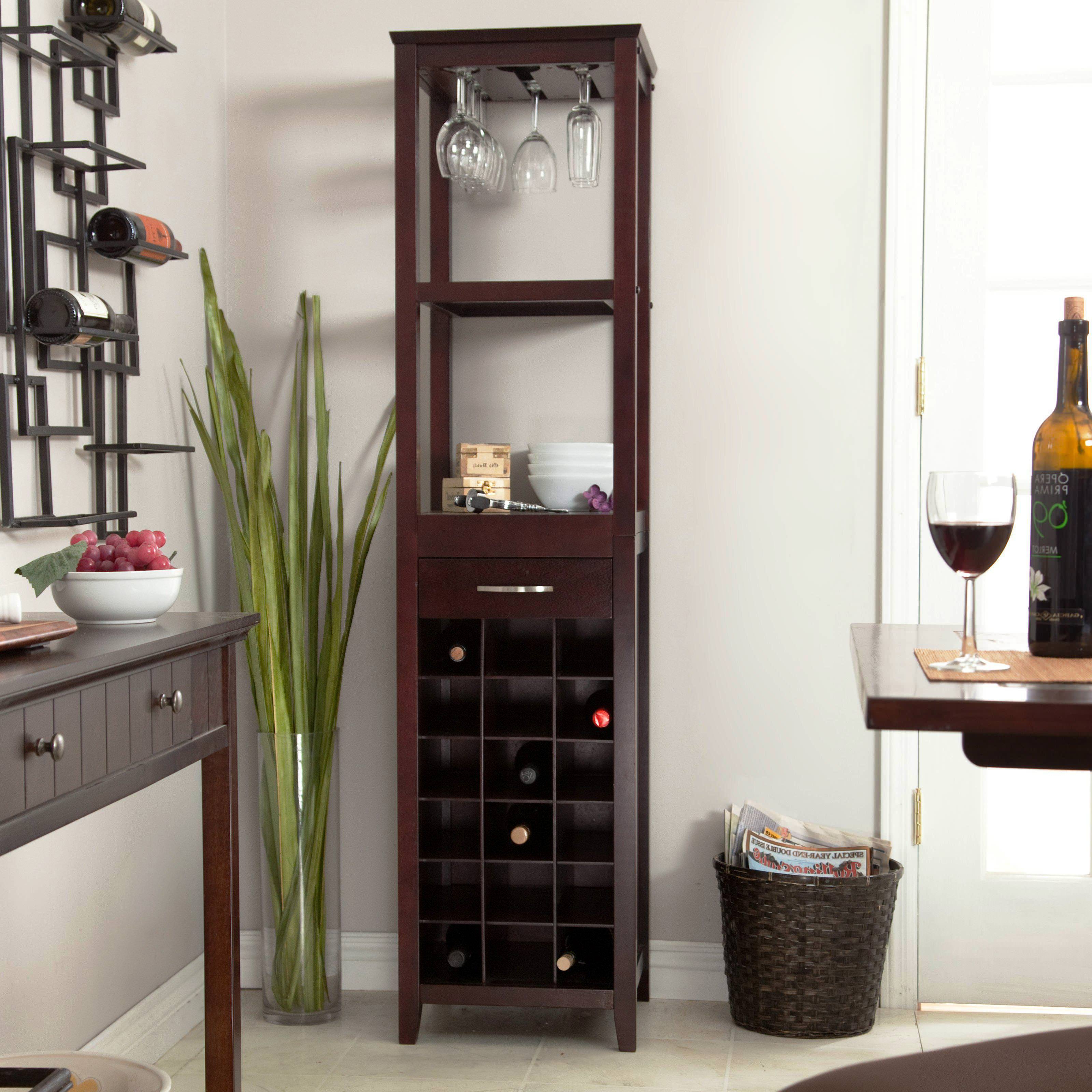 Corner Buffet With Wine Rack : Corner Wine Rack For Smart Pertaining To Buffets With Bottle And Glass Storage (View 4 of 20)