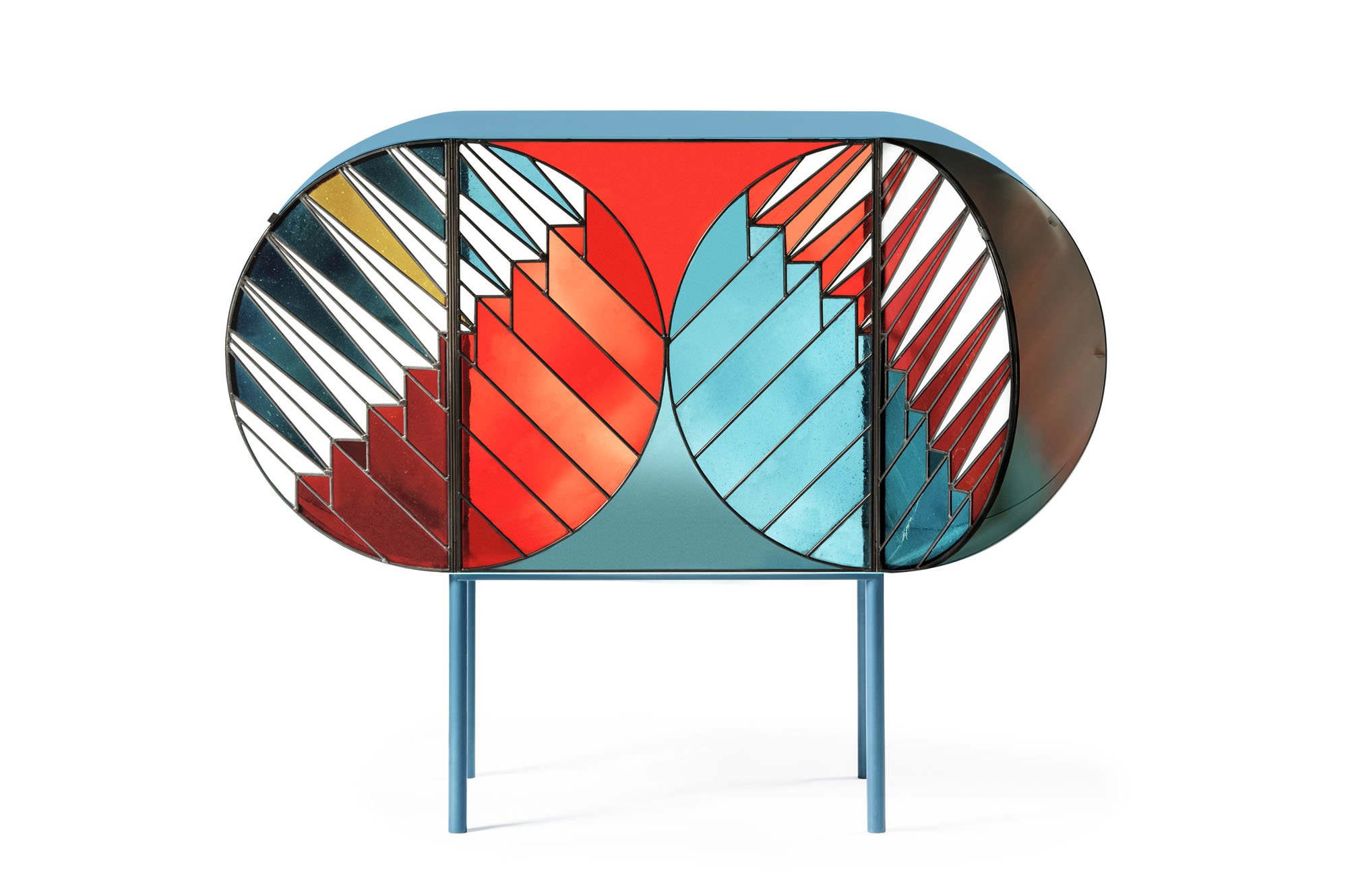 Credenza Sideboard Intended For Blue Stained Glass Credenzas (View 4 of 20)