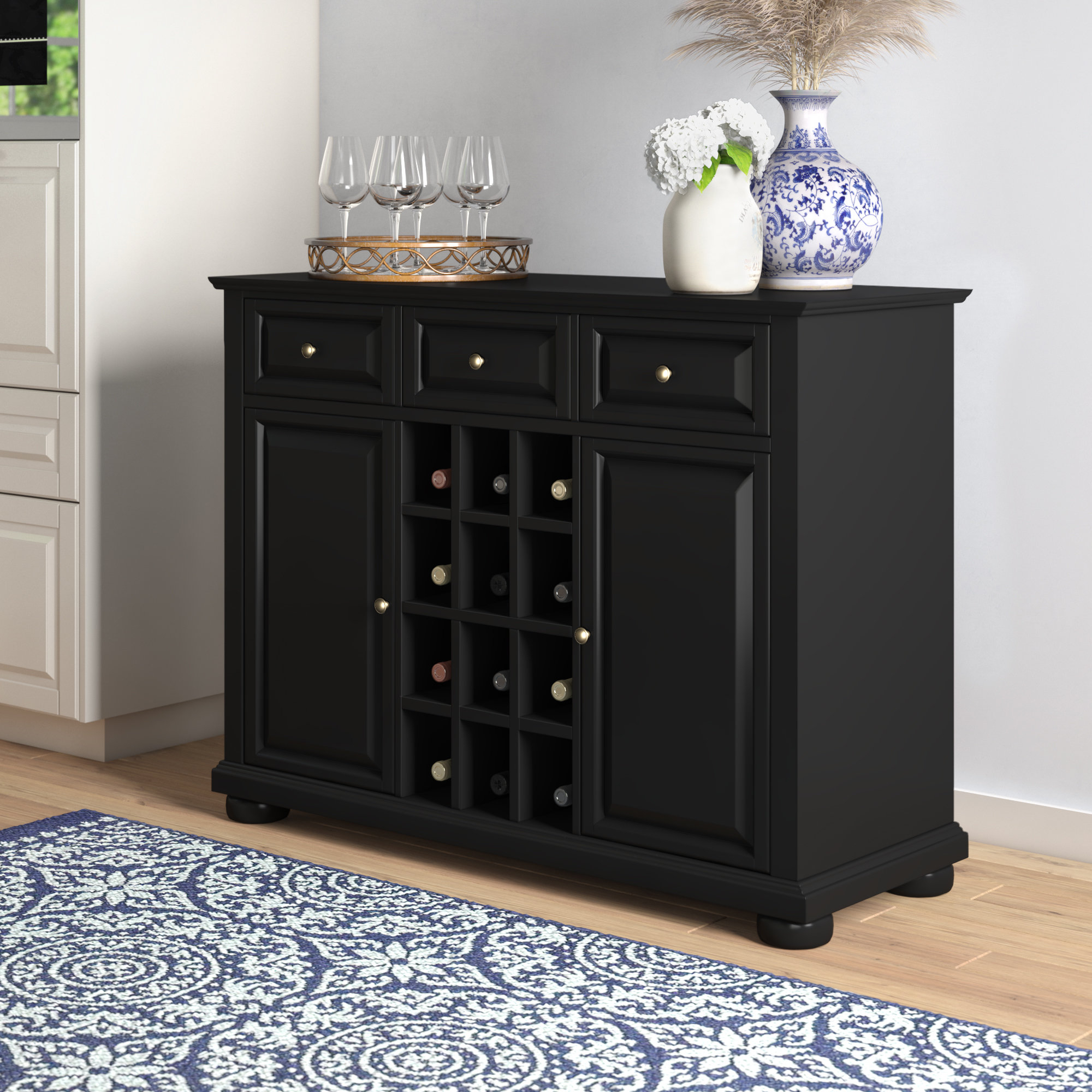 Dark Cherry Buffet You'll Love In 2019 | Wayfair Pertaining To Medium Cherry Buffets With Wood Top (View 12 of 20)