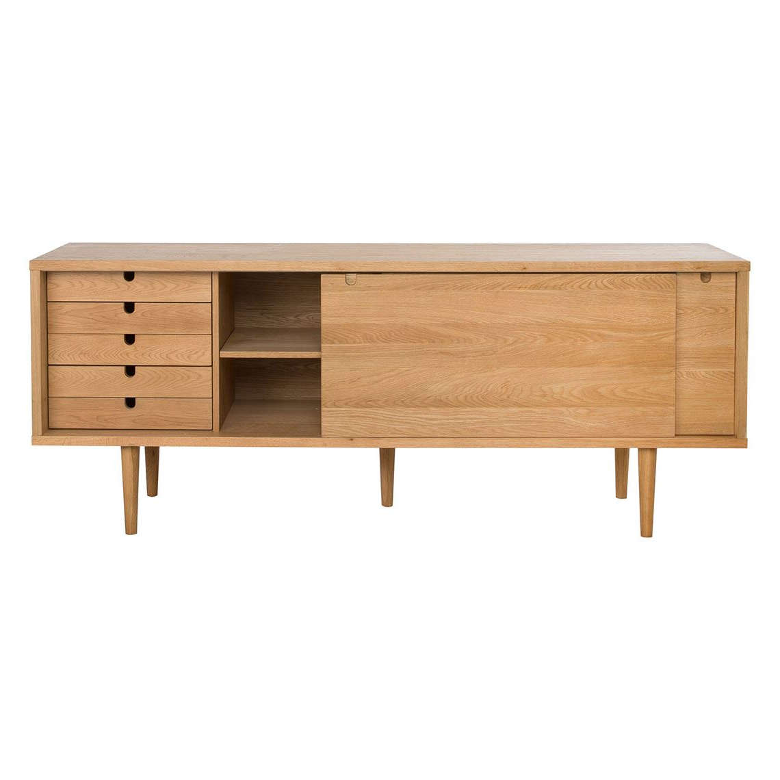 Decade 2 Door 5 Drawer Buffet, Oak Within Simple Living Southport Dining Buffets (View 4 of 20)