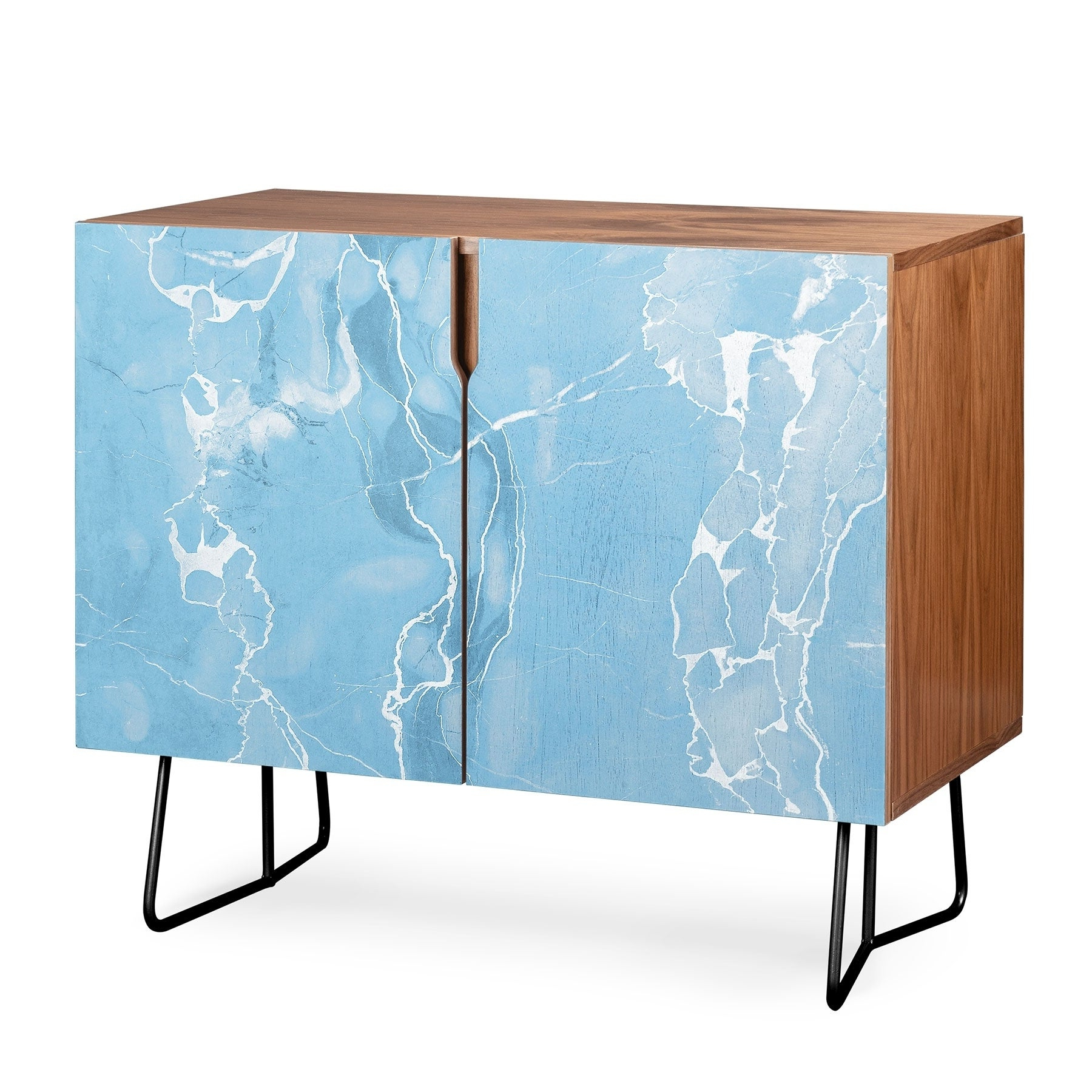 Deny Designs Blue Sky Marble Credenza (Birch Or Walnut, 2 Leg Options) For Ocean Marble Credenzas (View 3 of 20)