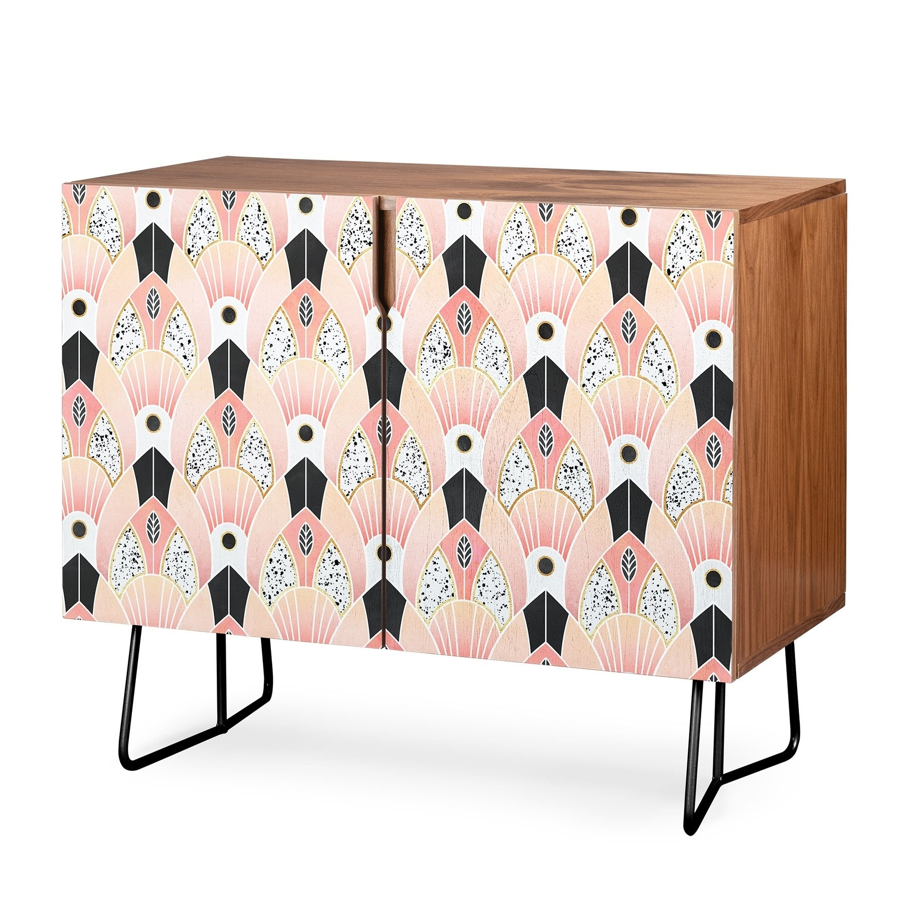Deny Designs Blush Deco Credenza (Birch Or Walnut, 2 Leg Options) Intended For Blush Deco Credenzas (View 10 of 20)