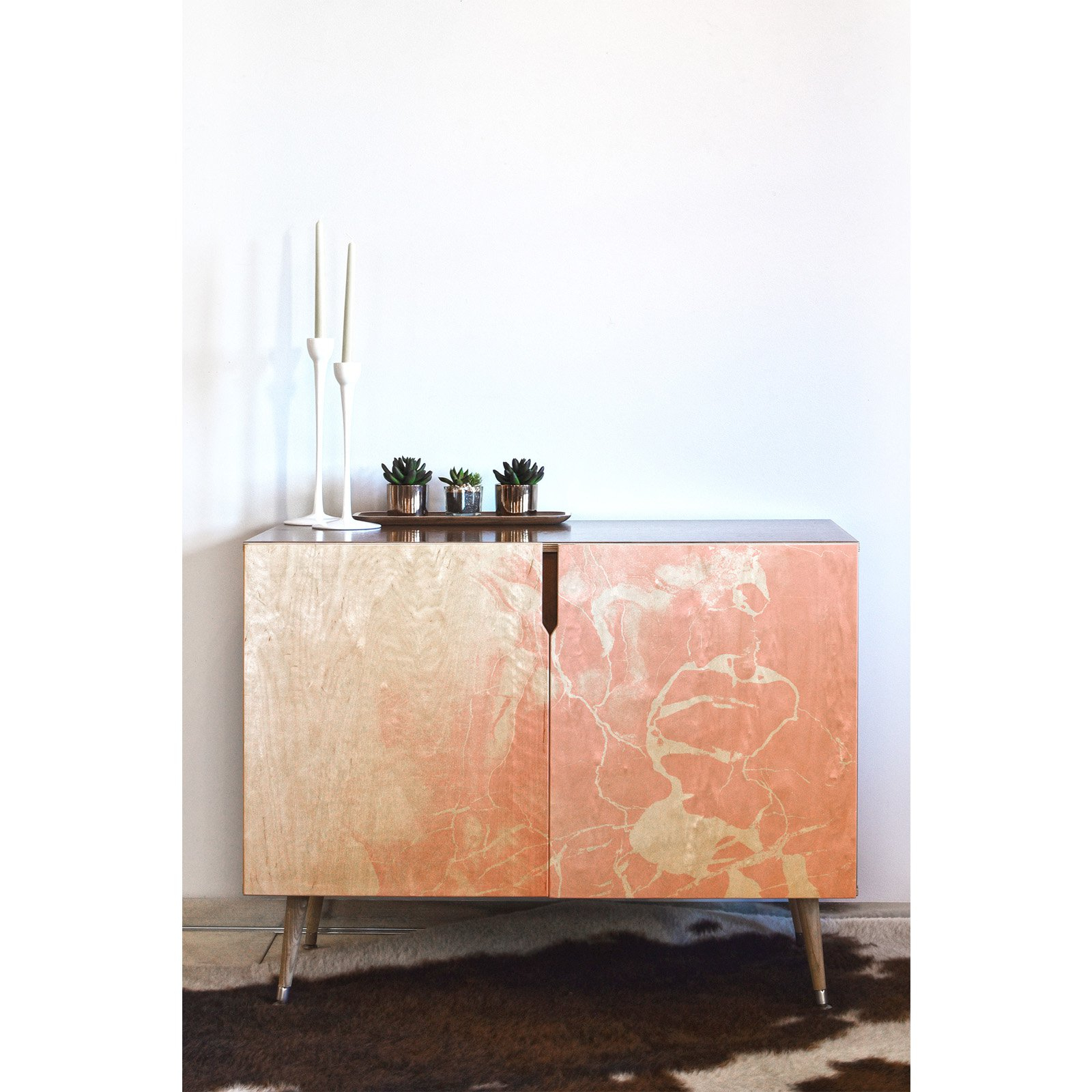 Deny Designs Emanuela Carratoni Pink Marble With White Throughout Colorful Leaves Credenzas (View 13 of 20)