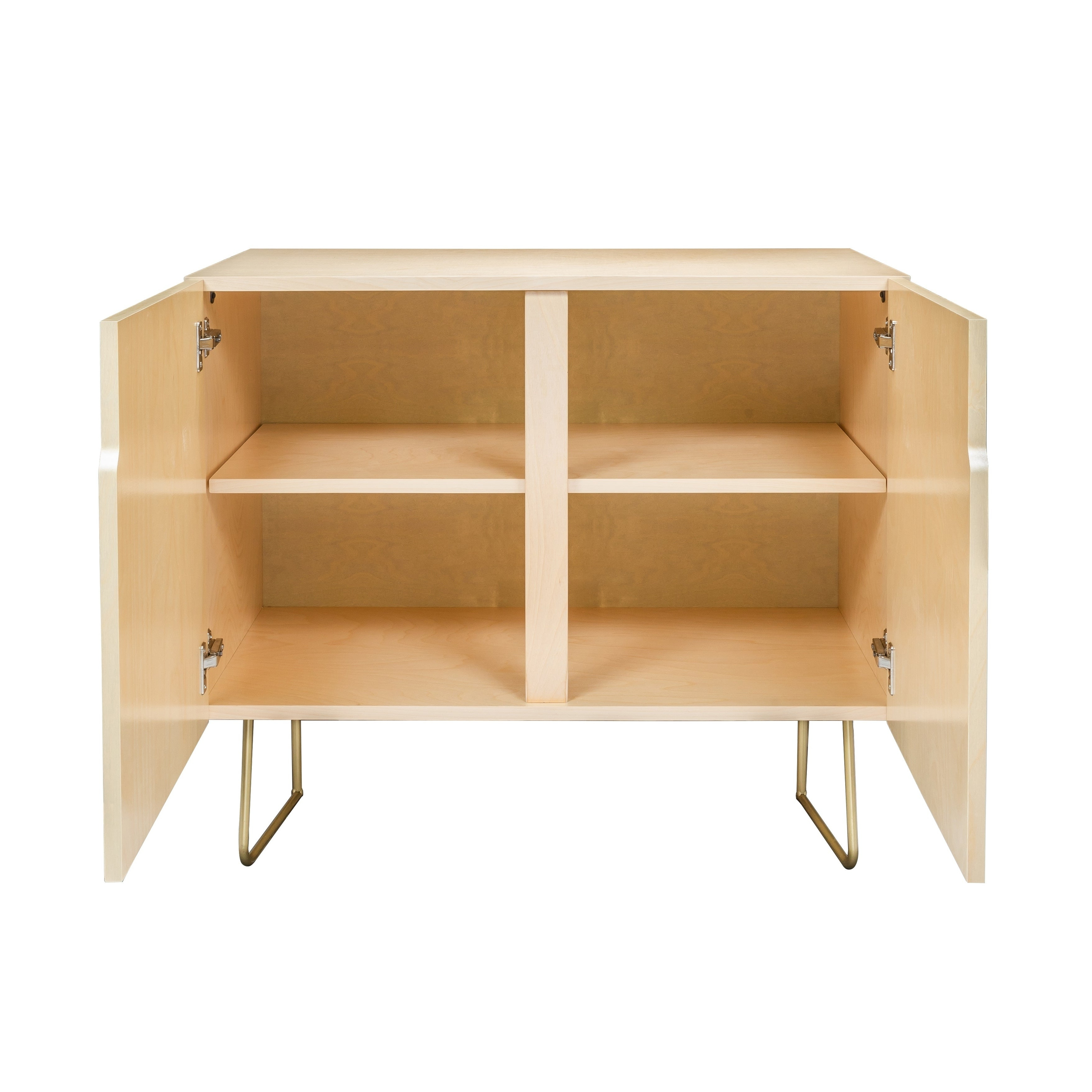 Deny Designs Emerald Cubes Credenza (Birch Or Walnut, 2 Leg Options) Pertaining To Emerald Cubes Credenzas (View 3 of 20)
