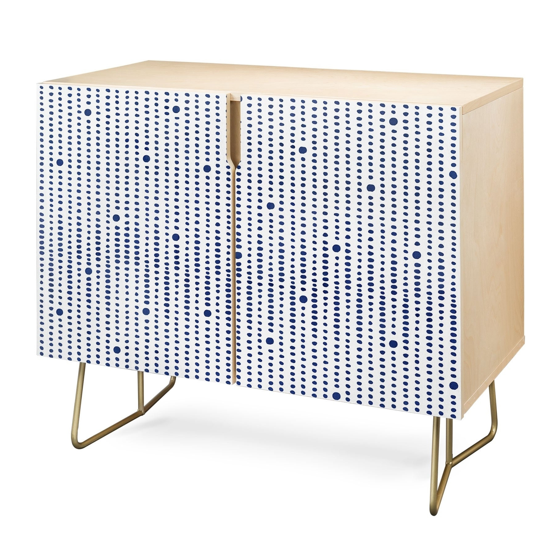 Deny Designs Japandi Style Credenza (Birch Or Walnut, 2 Leg Options) For Strokes And Waves Credenzas (View 6 of 20)