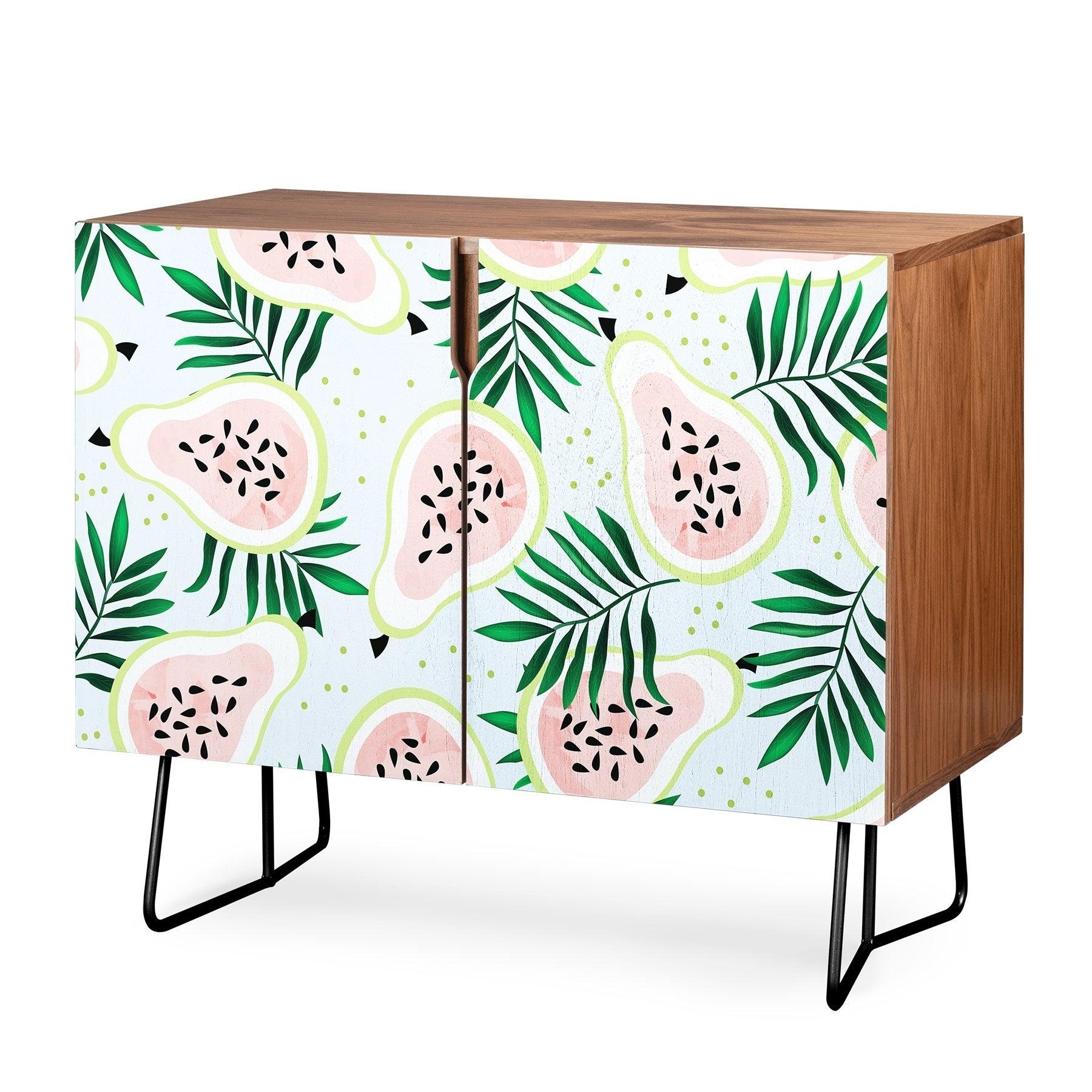 Deny Designs Juicy Guava Credenza (birch Or Walnut, 2 Leg Options) Throughout Juicy Guava Credenzas (View 2 of 20)