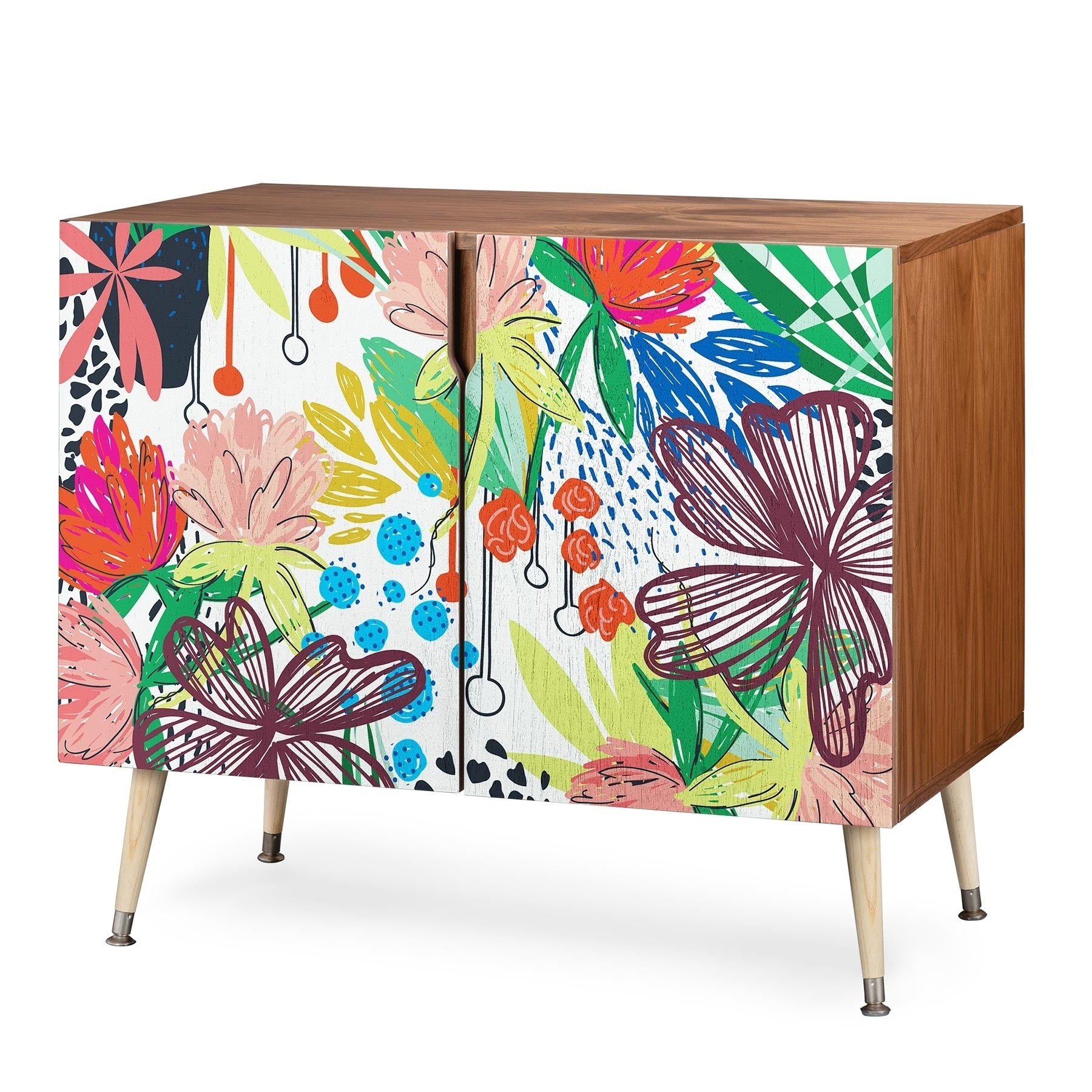 Deny Designs Khristian A Howell 'honduras' Credenza Pertaining To Colorful Leaves Credenzas (View 14 of 20)