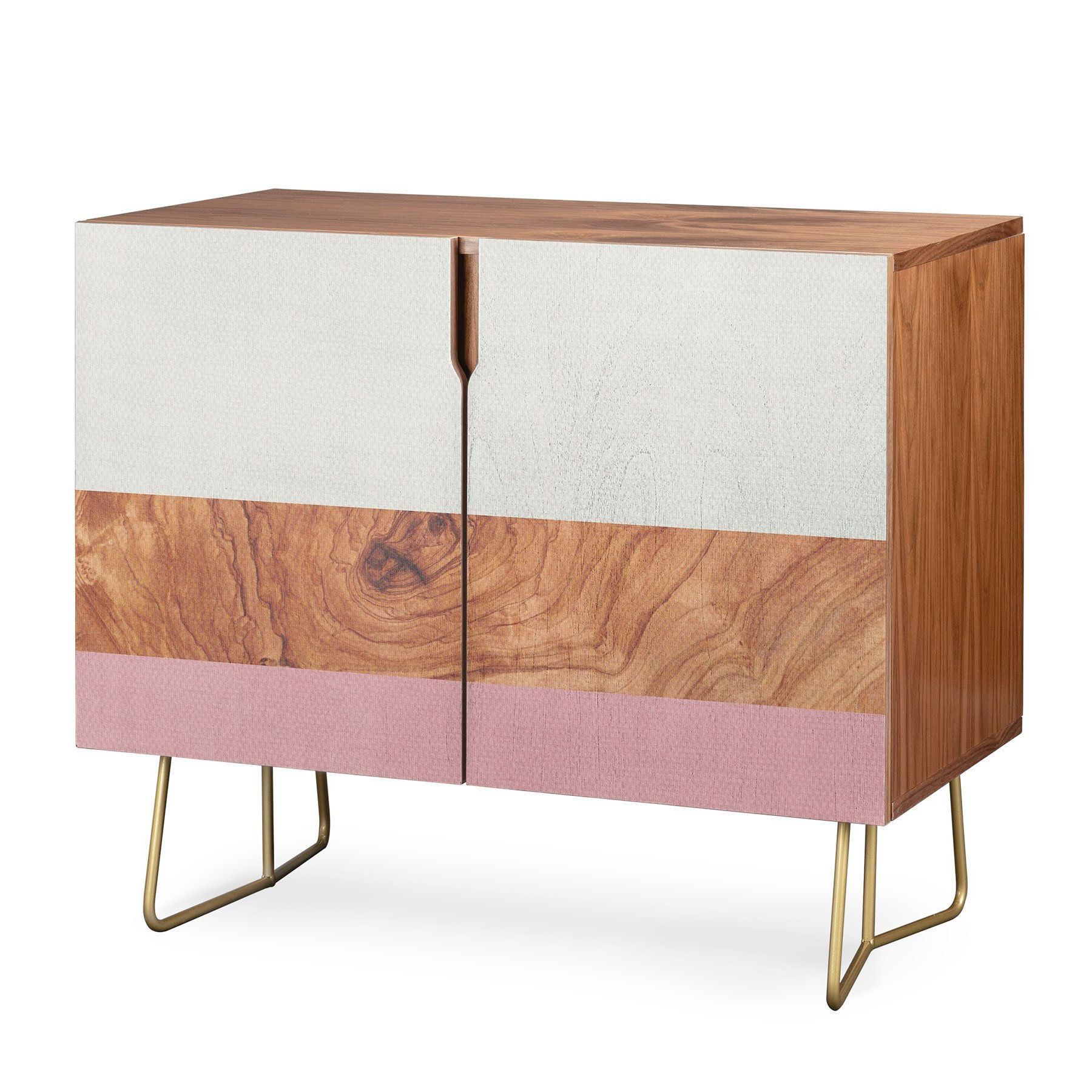 Deny Designs Line Geo Credenza (Birch Or Walnut, 2 Leg In Line Geo Credenzas (View 4 of 20)