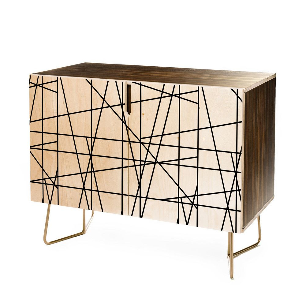 Deny Designs Line Geo Credenza (Birch Or Walnut, 2 Leg With Line Geo Credenzas (View 5 of 20)