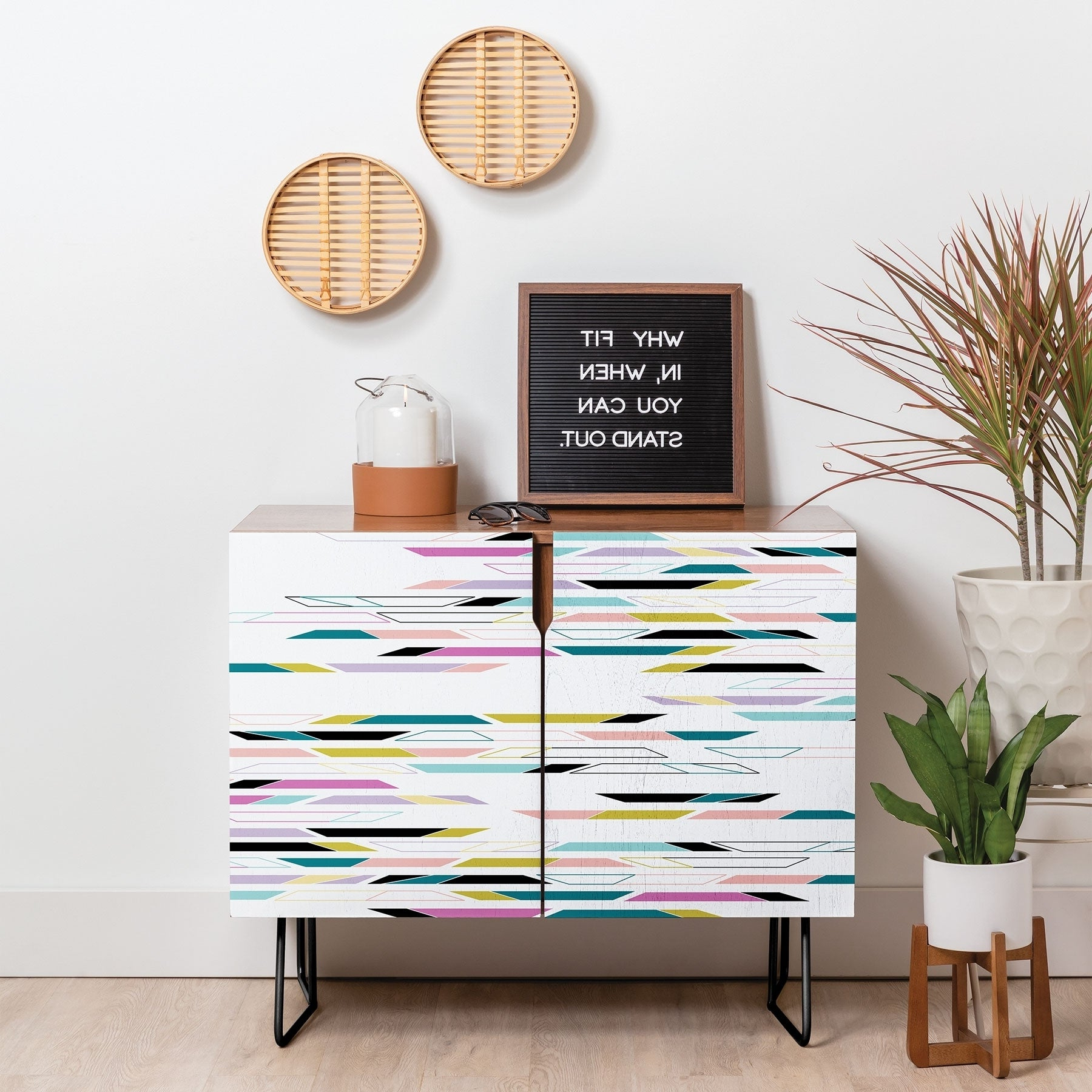 Featured Photo of Multi Colored Geometric Shapes Credenzas